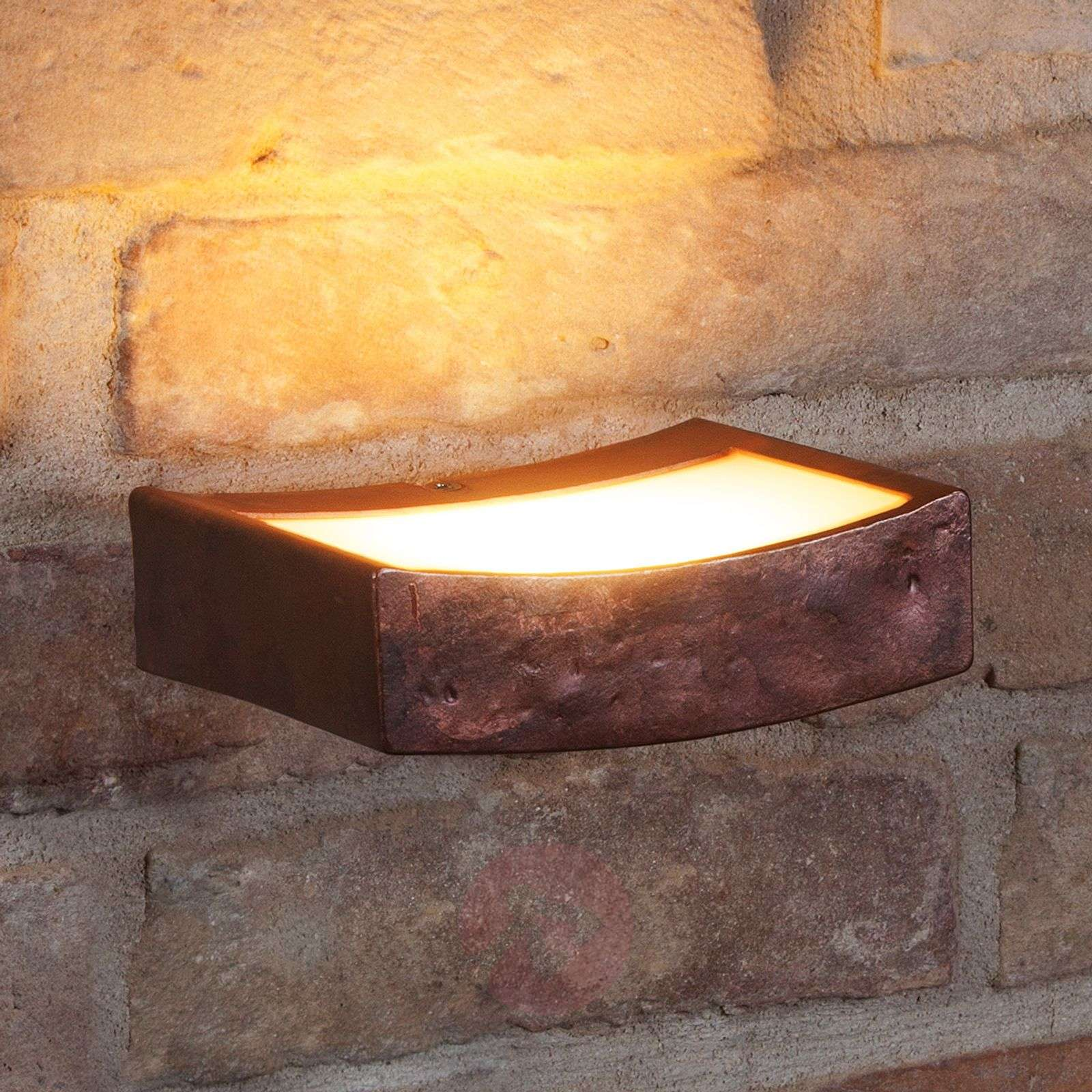 LED wall light Dolce in rust look, 13cm wide-4011726-01