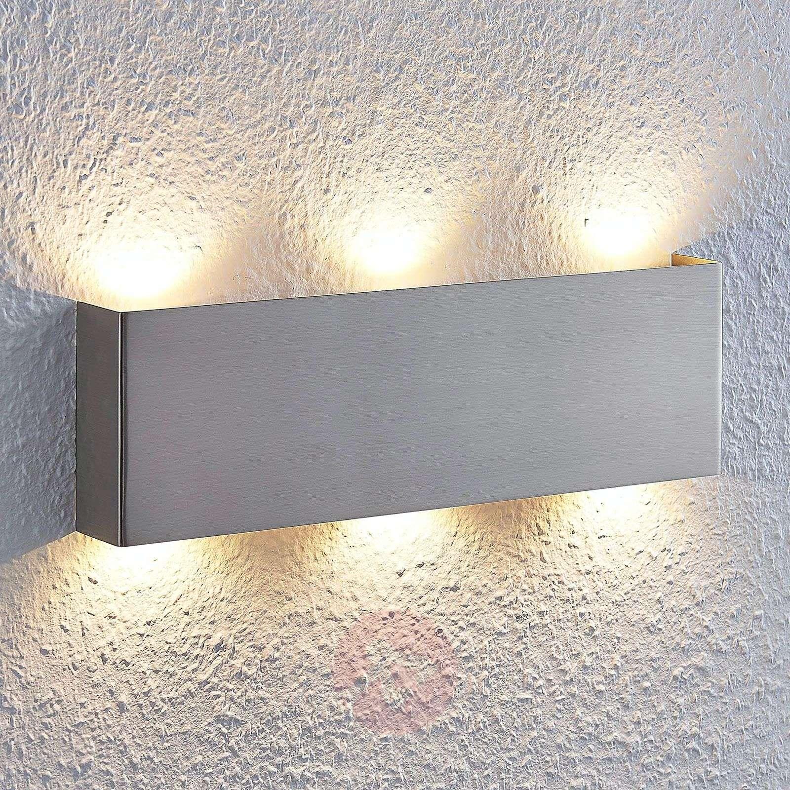 Sierstrip Chroom Badkamer : Led wall light manon satin nickel 35 cm lights.ie
