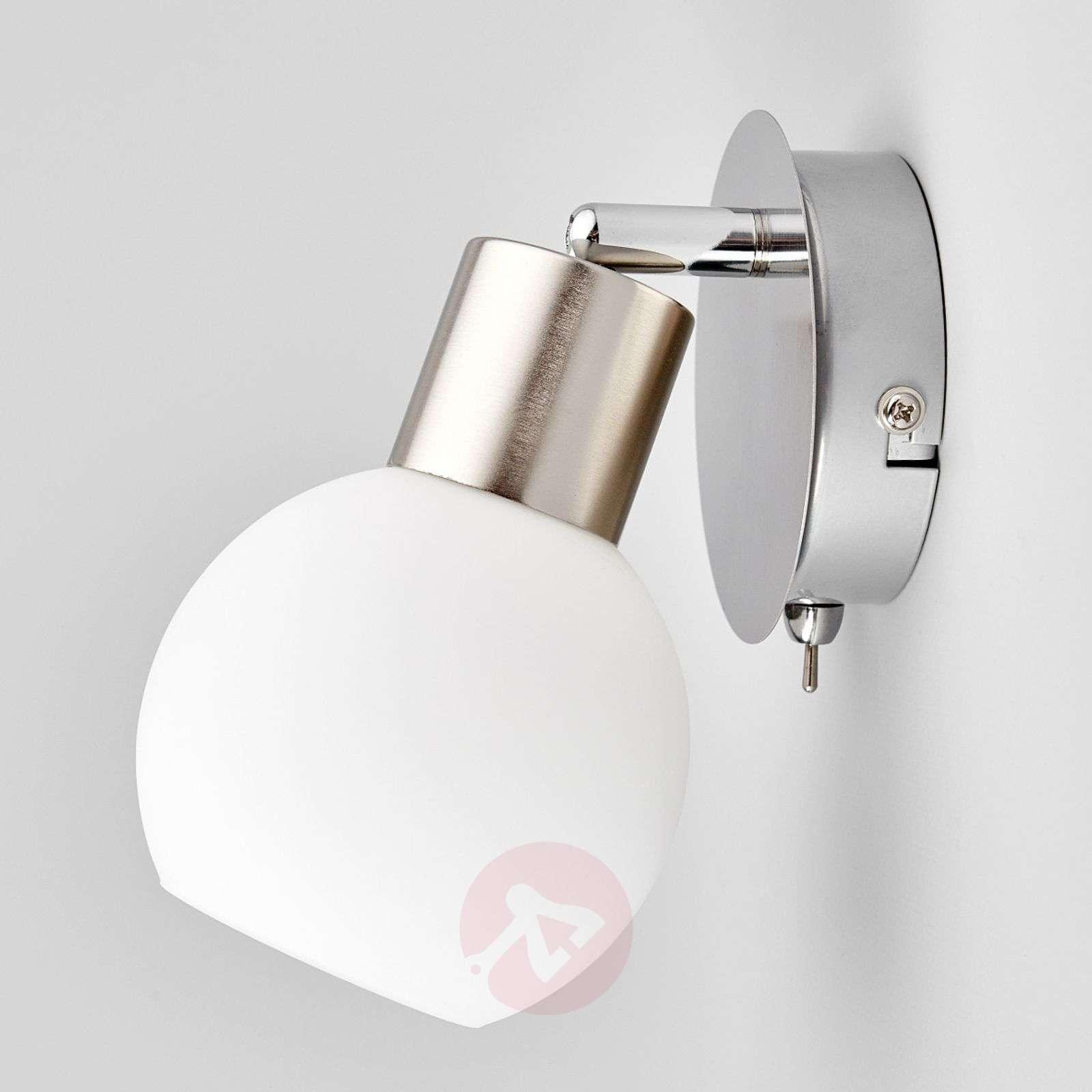 LED wall spotlight Elaina, matt nickel-9620017-01