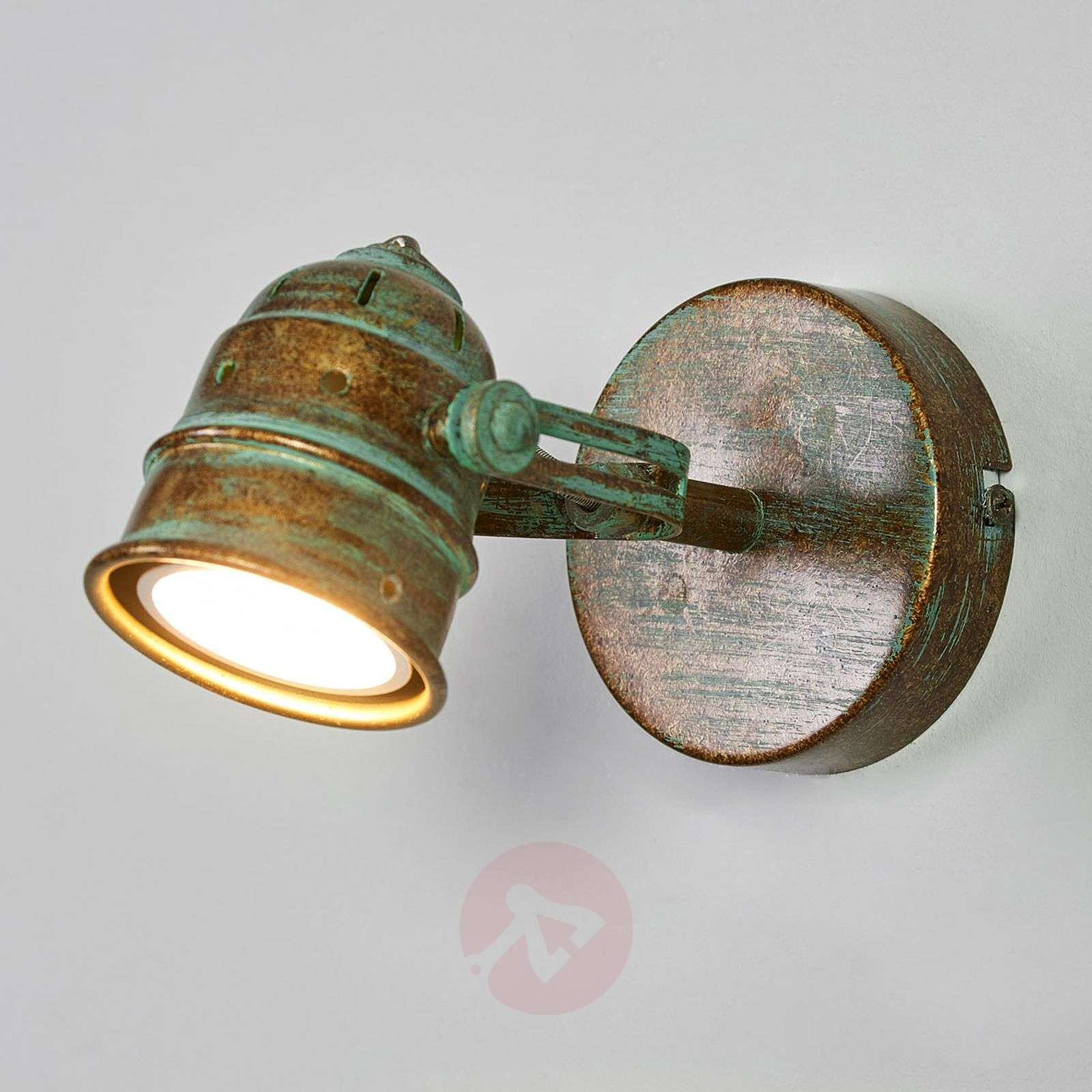 Leonor LED spotlight with verdigris effect-9639069-01