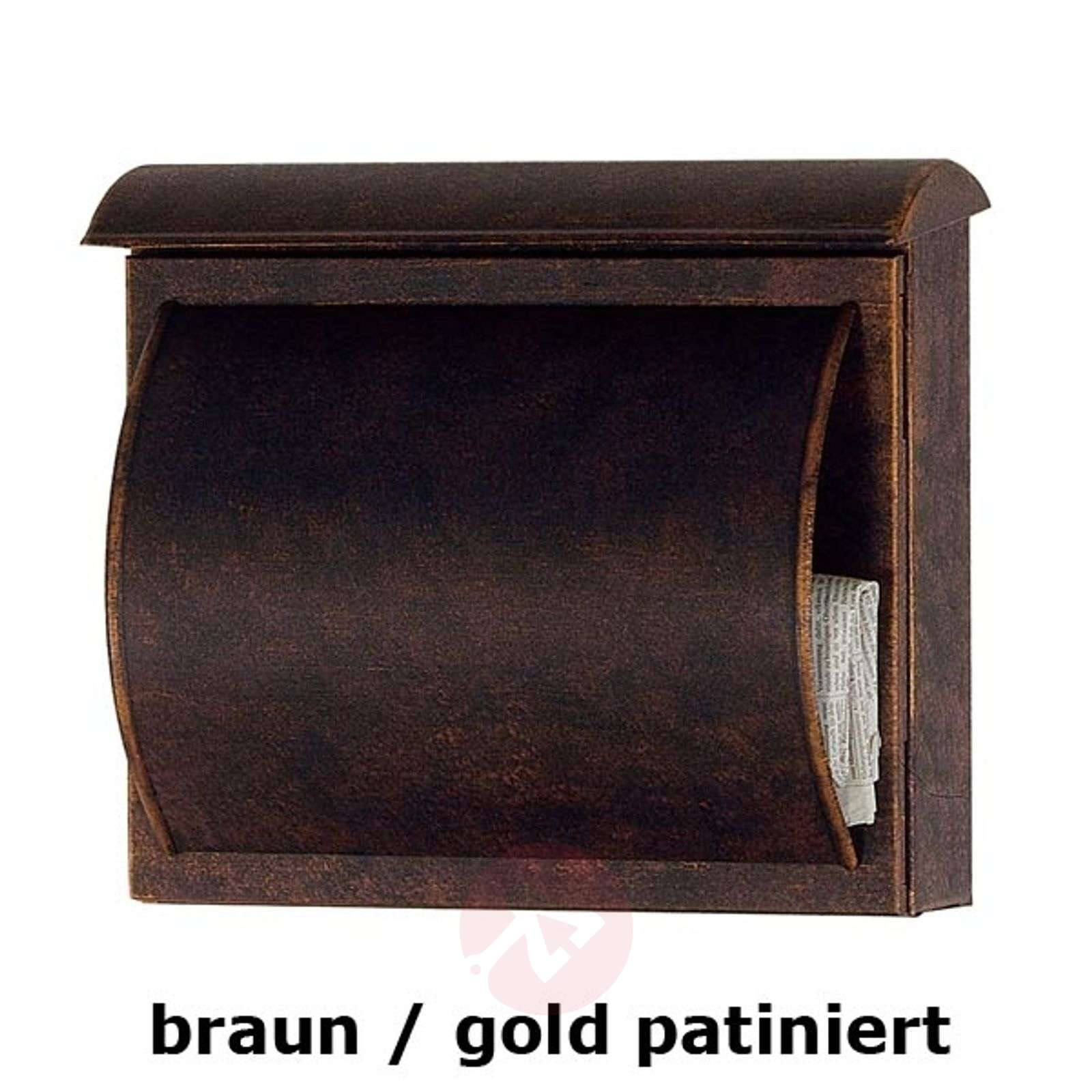 Letterbox TORES brown / gold patinated-4502084-01