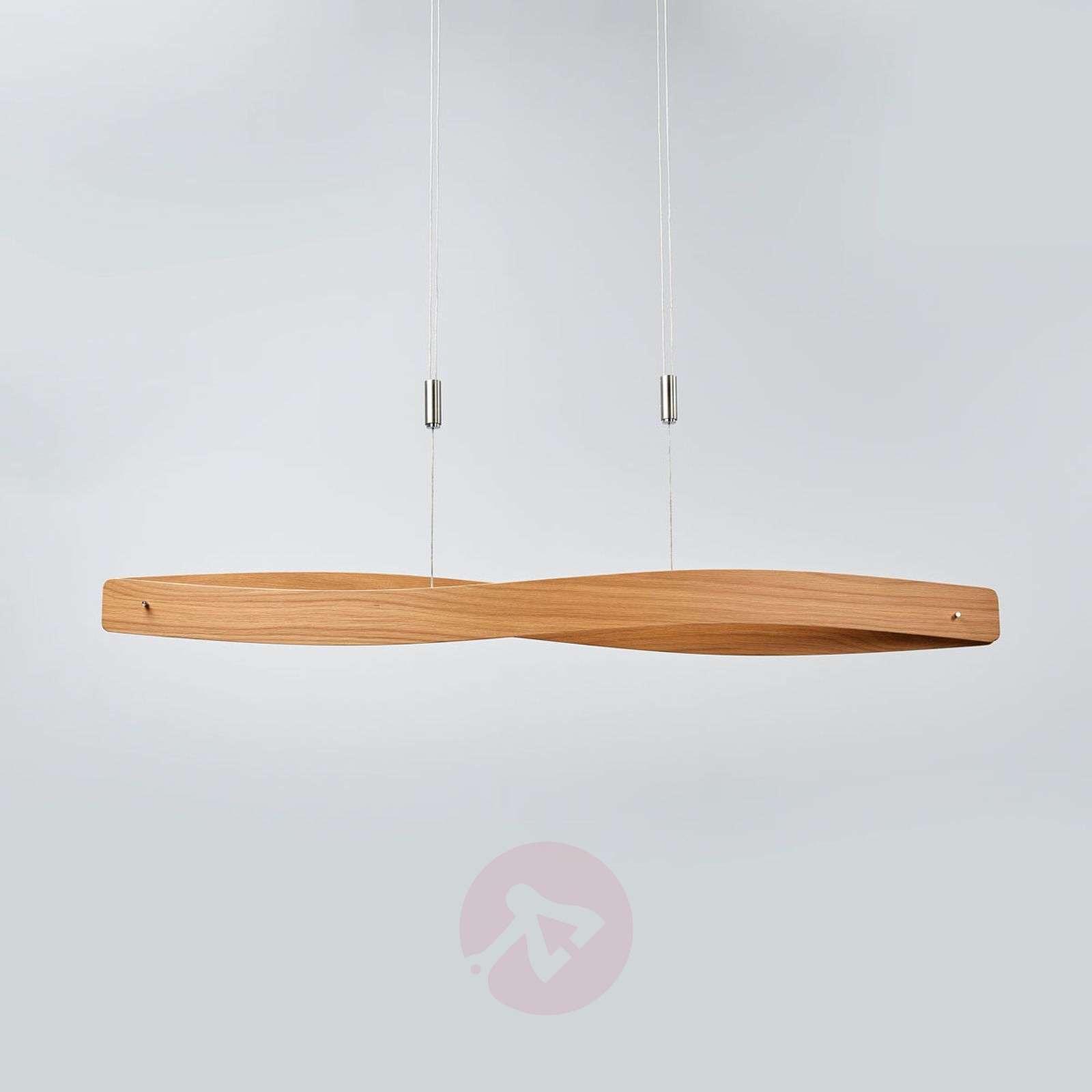 wood veneer lighting. Lian LED Hanging Light With Wood Veneer-6722424-01 Veneer Lighting
