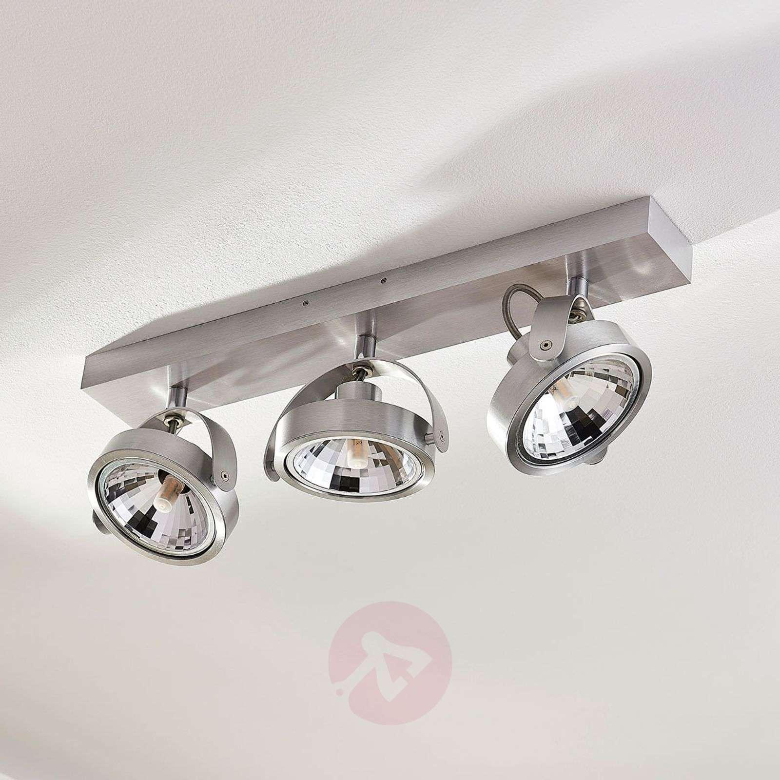 Lieven aluminium LED ceiling spotlight, three-bulb-9621522-01