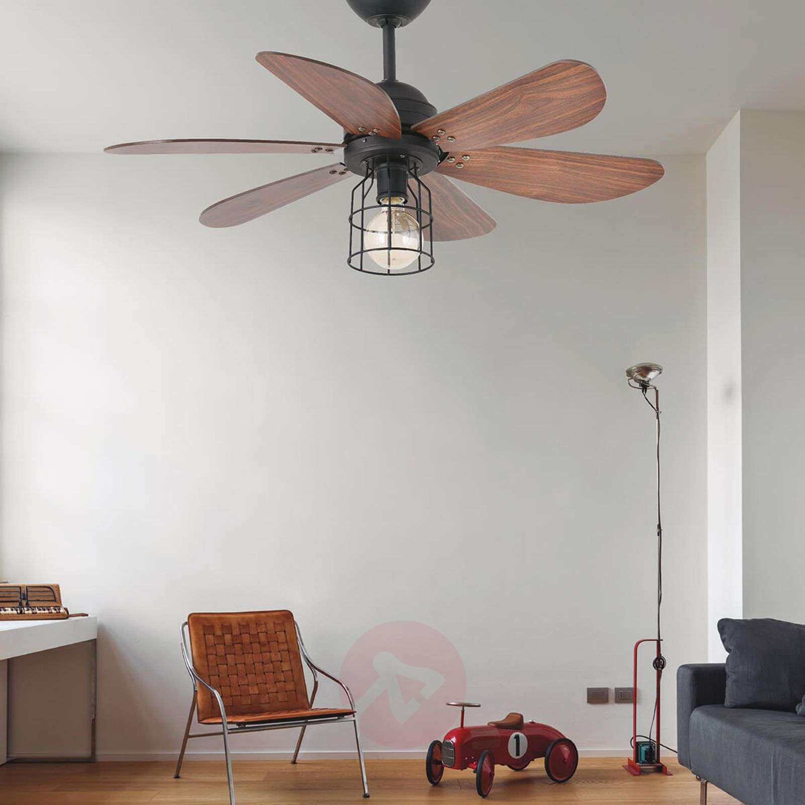 Light With A Cage Design Ceiling Fan Chicago Lights Ie