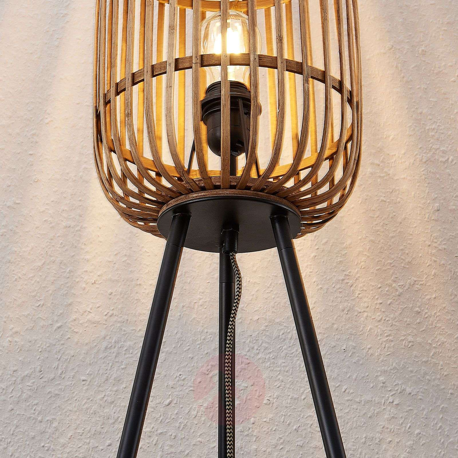 Lindby Marly Floor Lamp Rattan Lampshade Lights Ie
