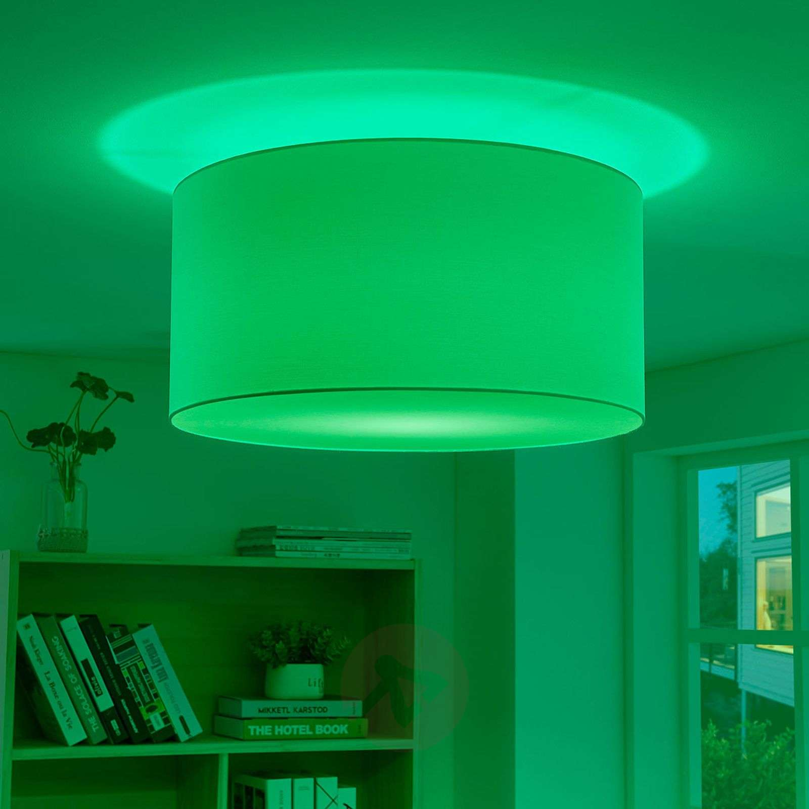 newest 643fc 35d89 Lindby Smart RGB LED ceiling lamp Everly for app