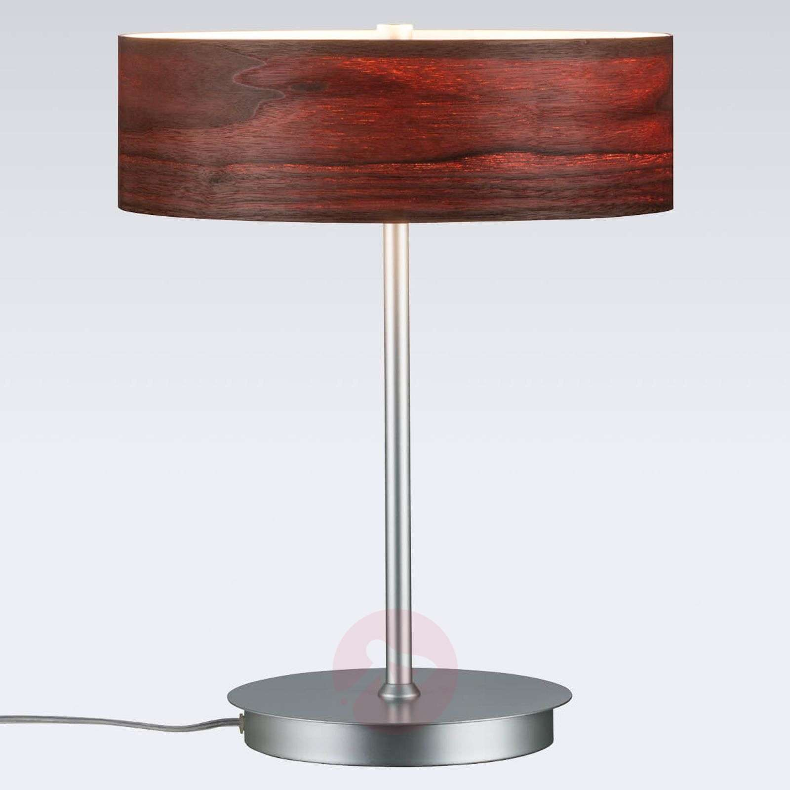 Liska chic table lamp with wooden lampshade-7601064-01