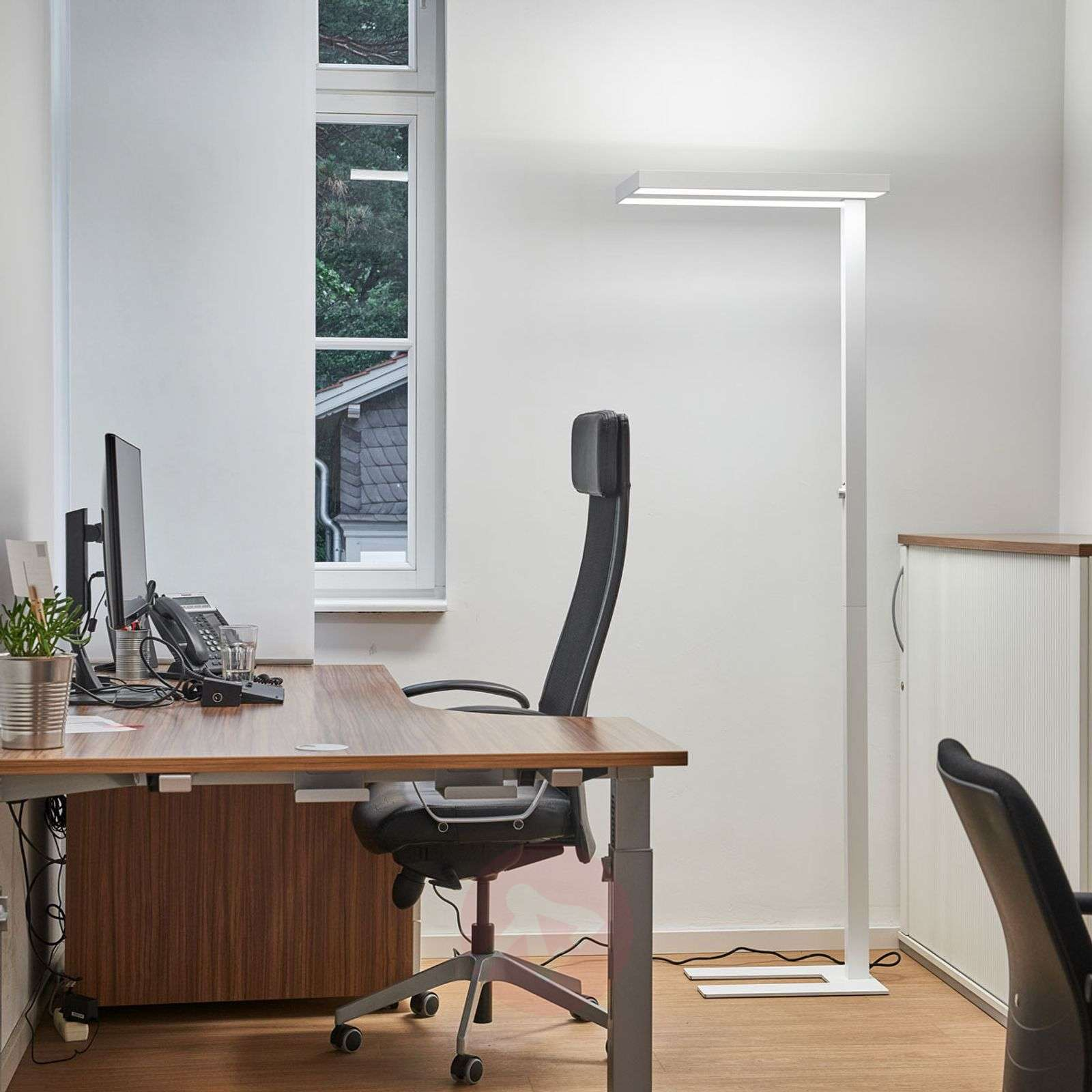 office table lamp. Logan LED Office Floor Lamp With Dimmer In White-9968004-02 Table O