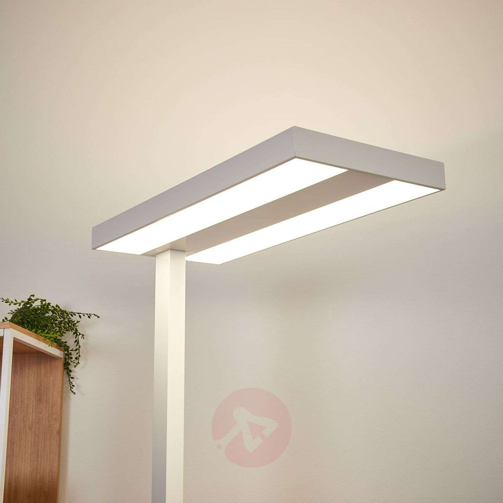 lamp office. Logan LED Office Floor Lamp With Dimmer In White-9968004-02 R
