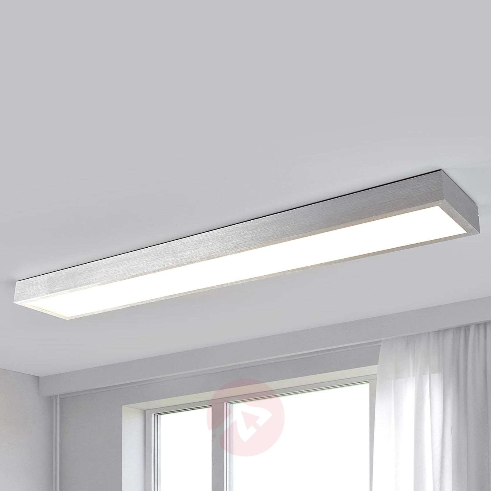 Long led ceiling lamp esila with a bright light