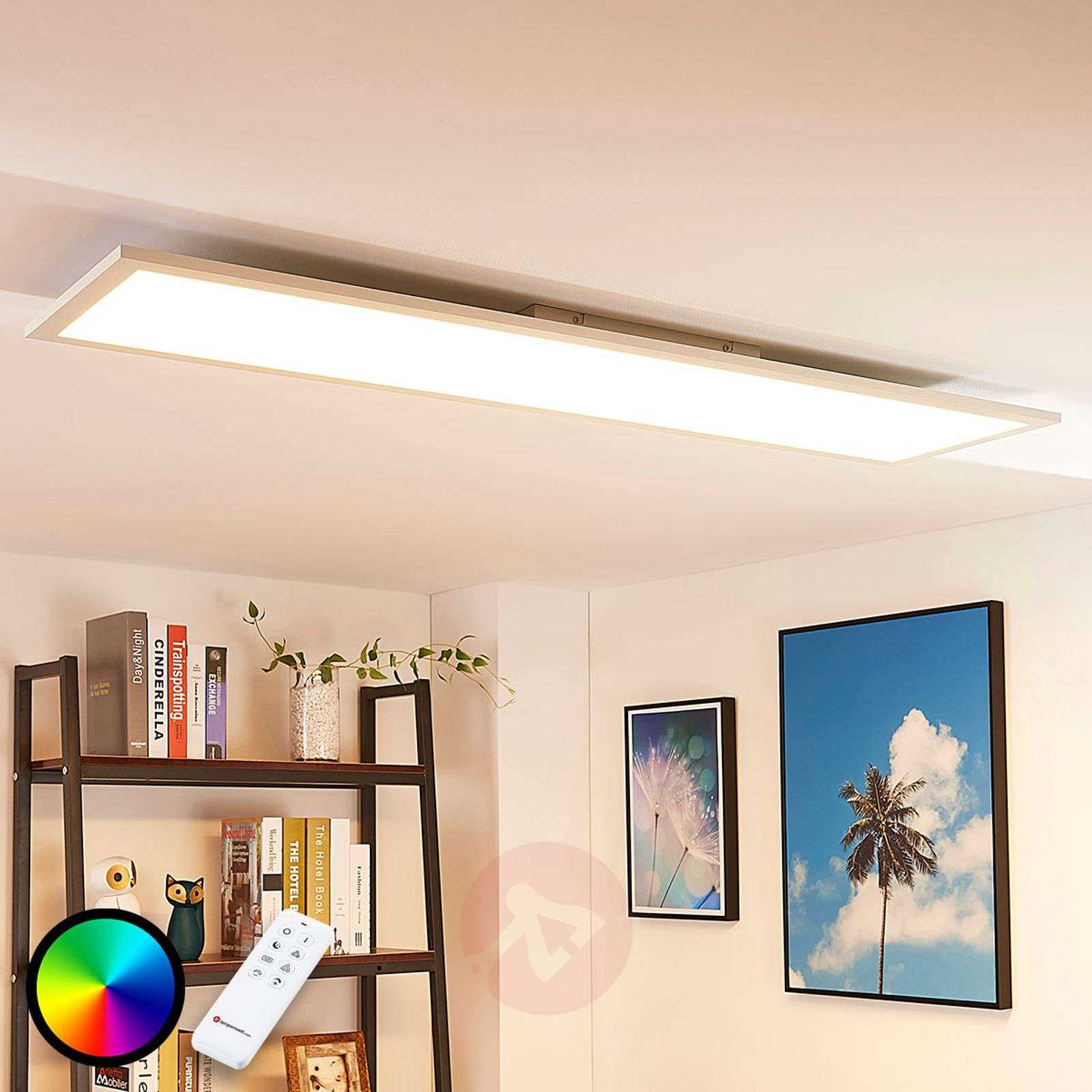 Long LED ceiling light Tinus, RGB and warm white-9621654-04
