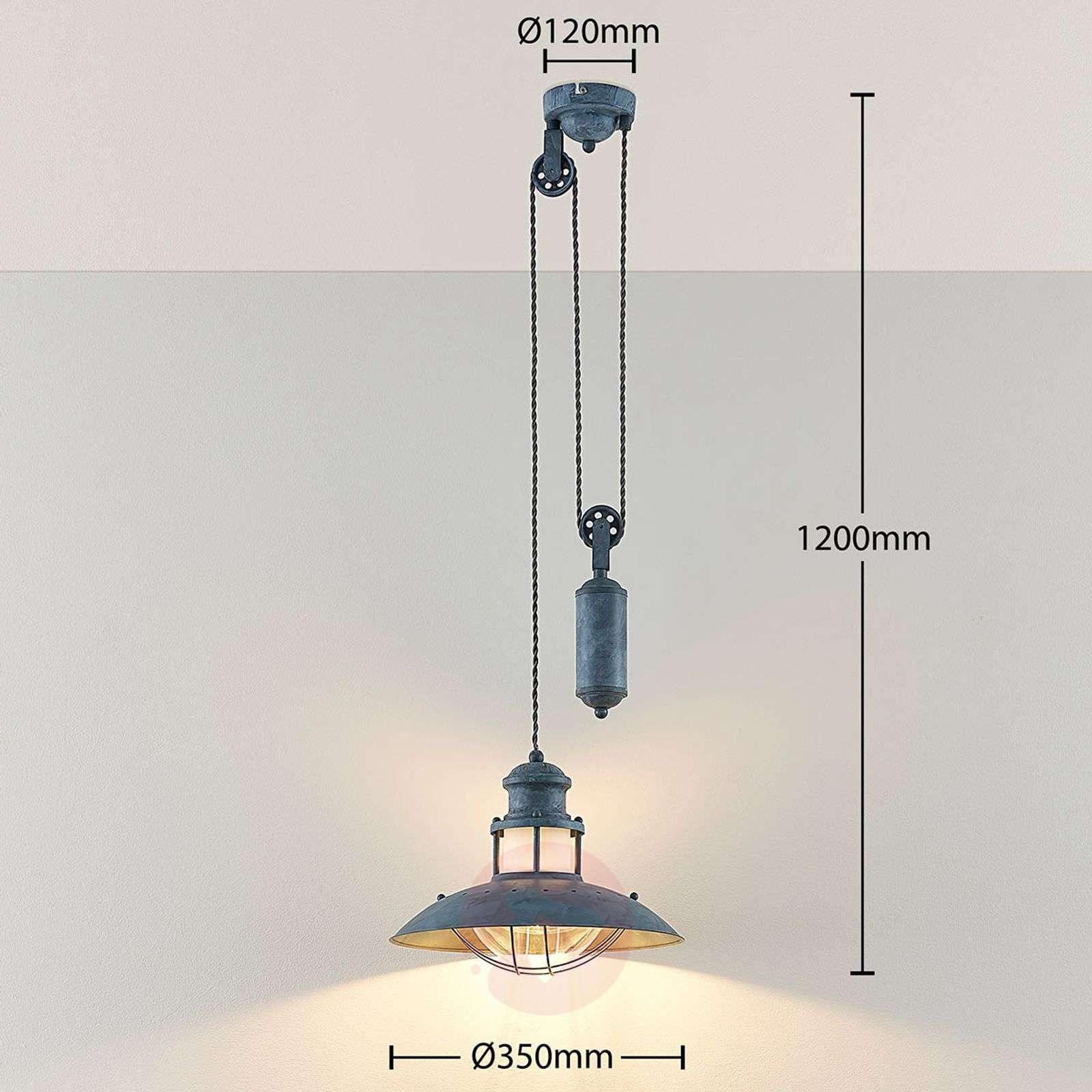 Louisanne hanging light with yo-yo pendulum-9621440-02