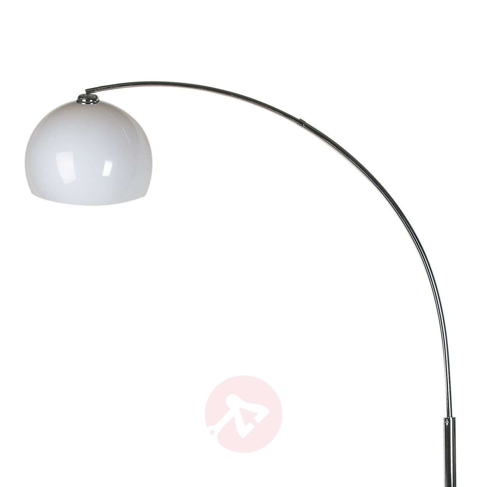 Lounge arc floor lamp with white lampshade lights lounge arc floor lamp with white lampshade 5517140 01 mozeypictures Choice Image