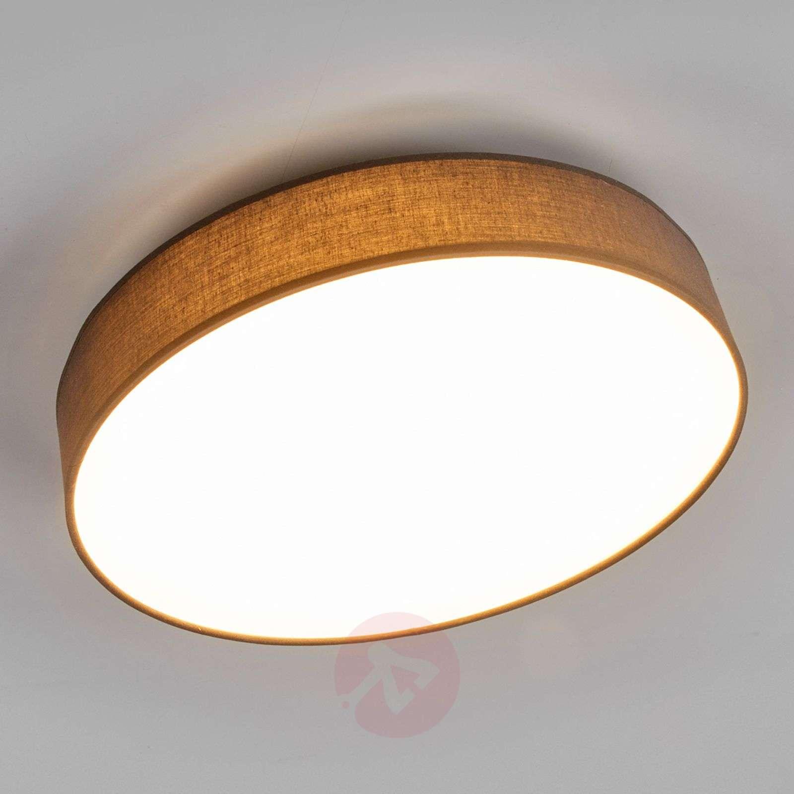 Lovely LED fabric ceiling lamp Saira in grey-9625091-02
