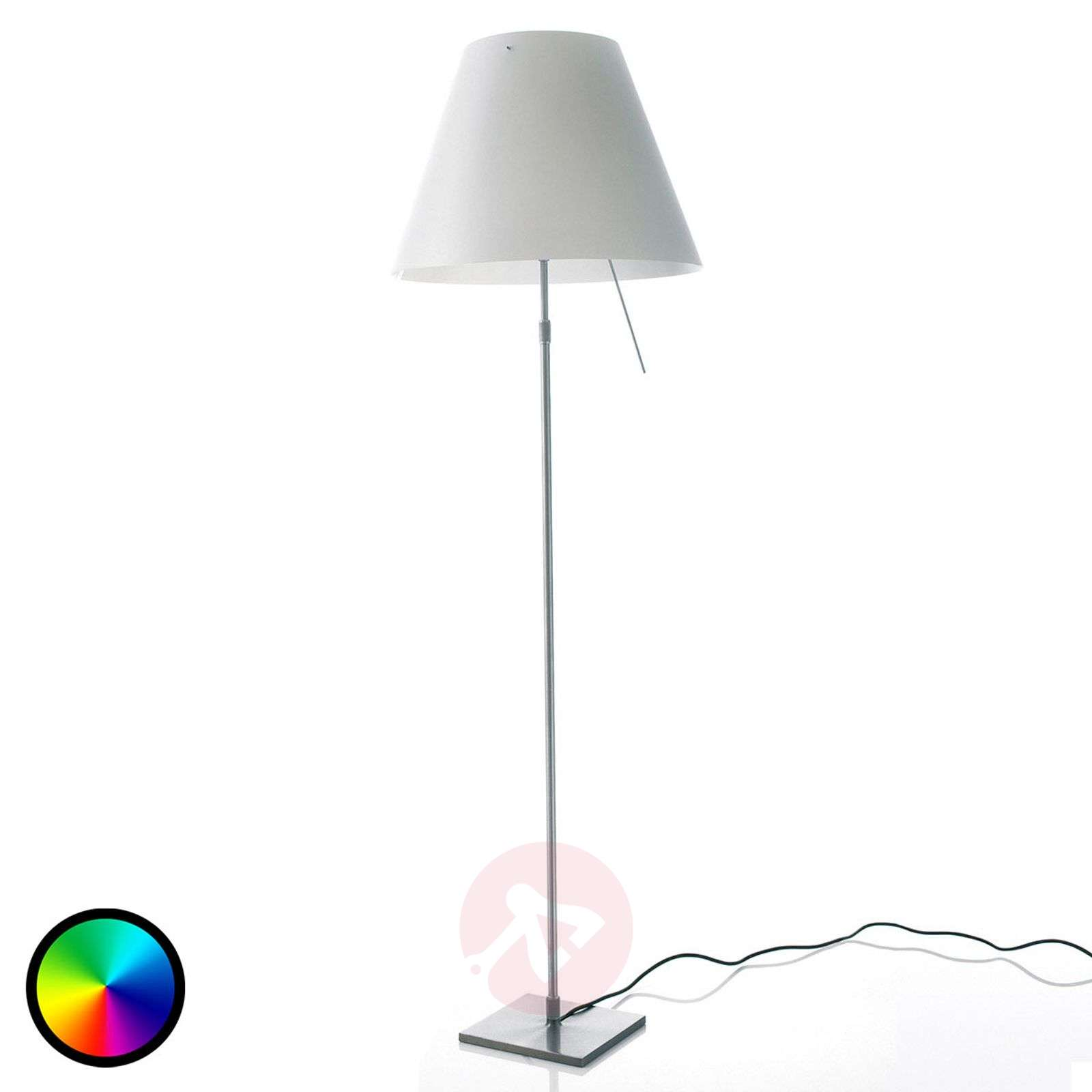 Philips hue led floor lamp constanza adjustable lights luceplan costanza floor lamp with philips hue bulb 6030167 01 aloadofball Gallery