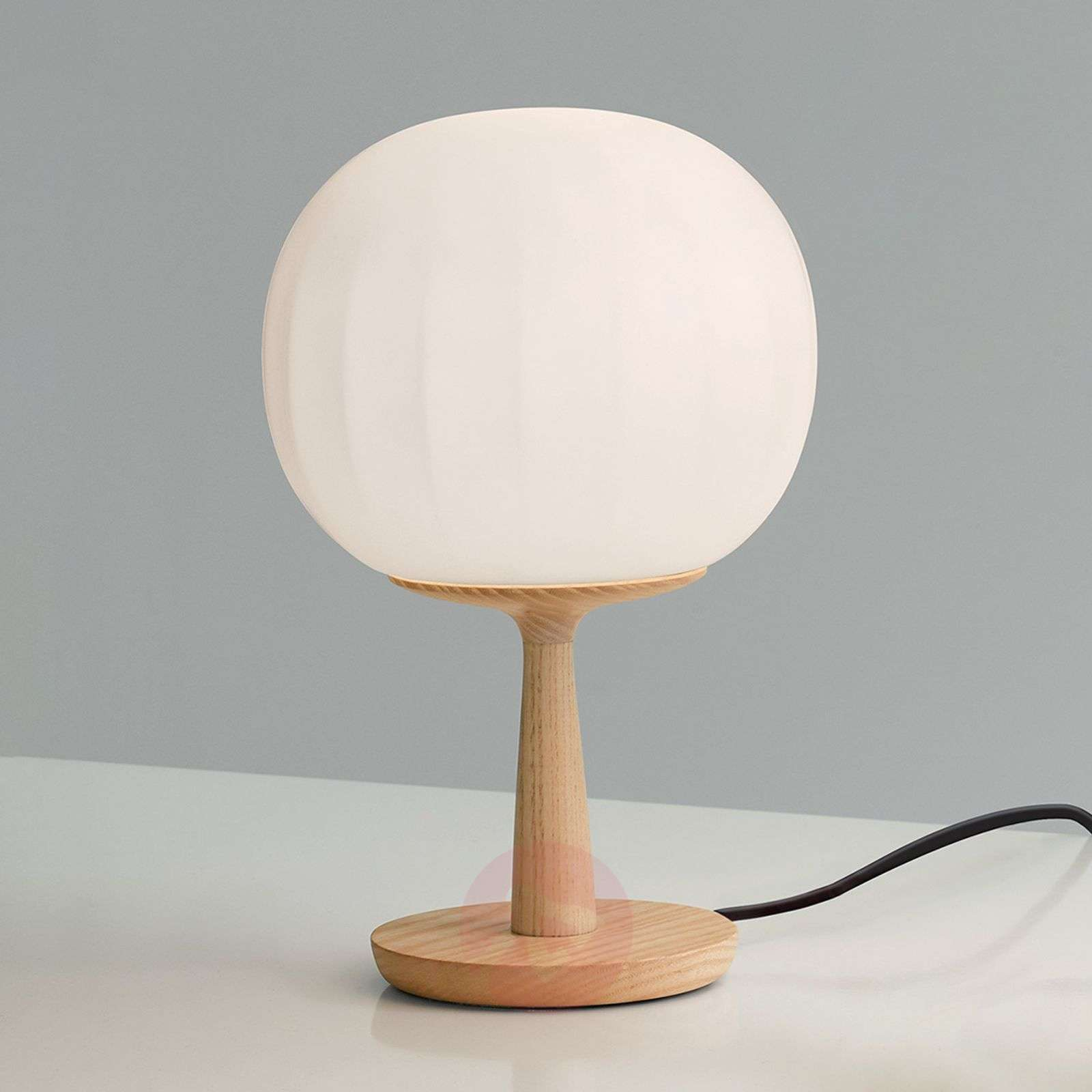 Luceplan Lita table lamp ash wood base-6030228X-01