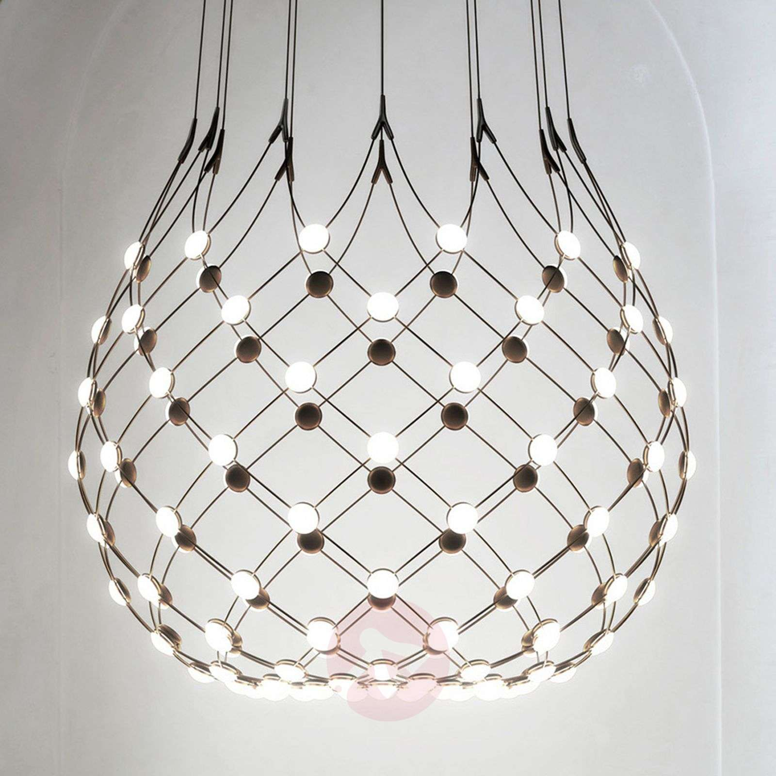 Luceplan Mesh pendant lamp Ø 100 cm wireless-6030245X-01