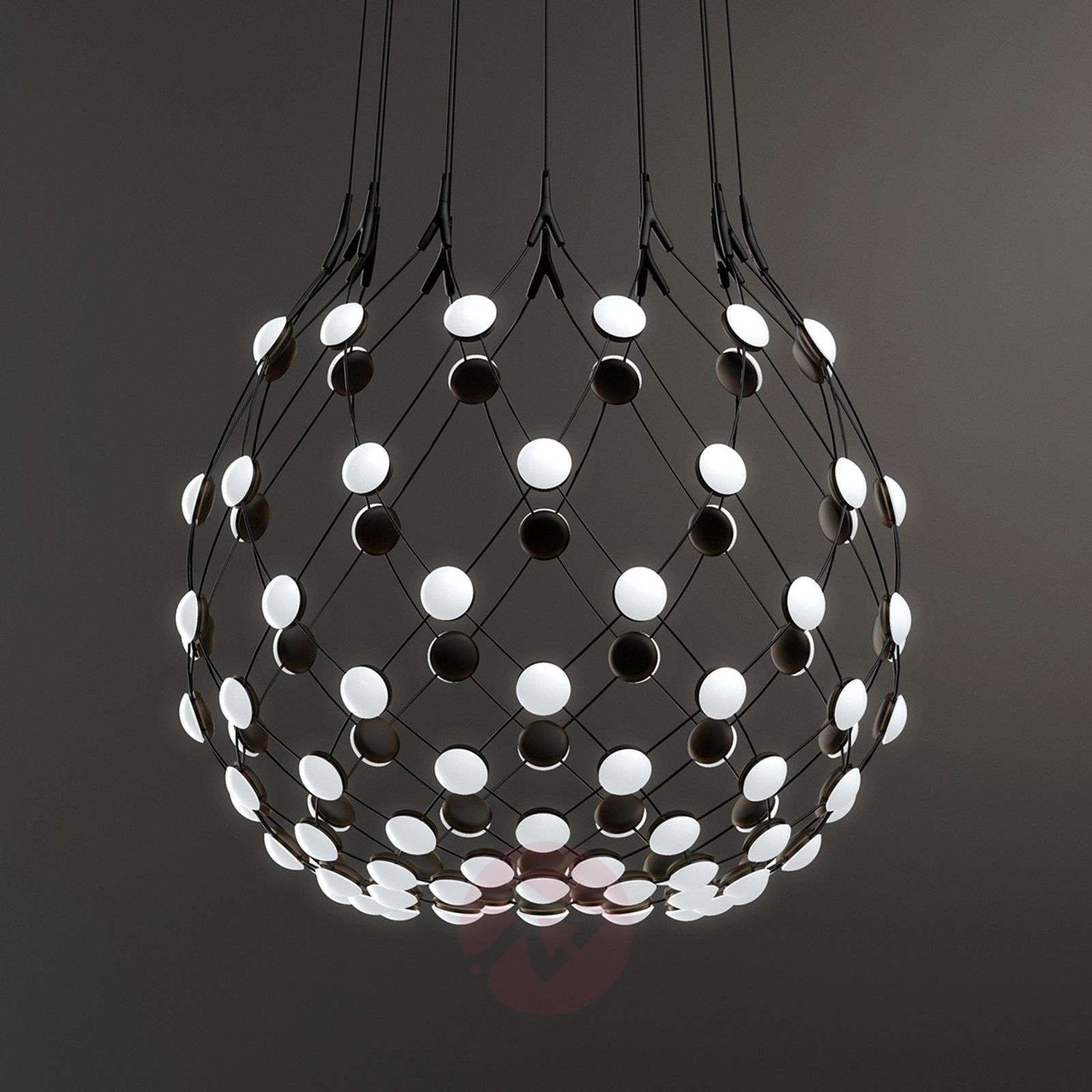 Luceplan Mesh pendant lamp Ø 80cm wireless-6030249X-01