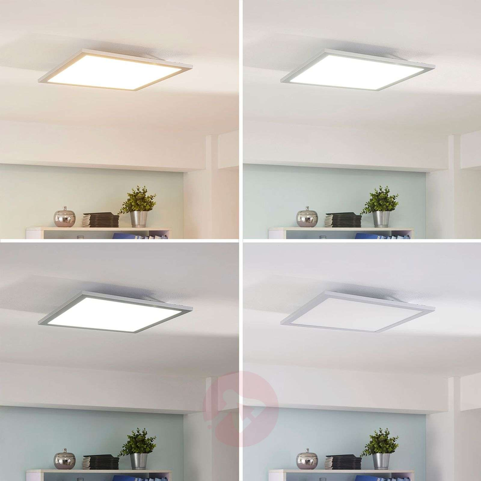 Lysander LED ceiling light, dimmable 39.5cm silver-9621555-01