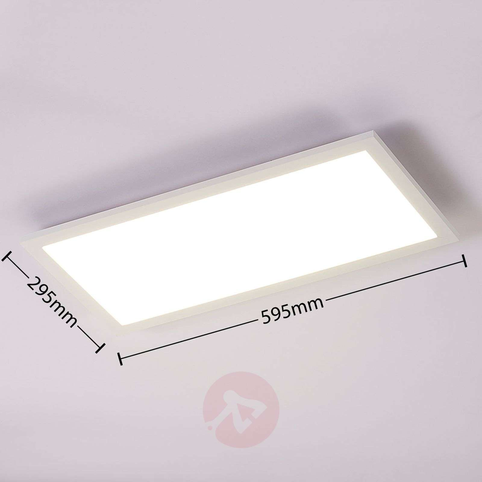 Lysander white LED panel dimmable w remote control-9621548-011