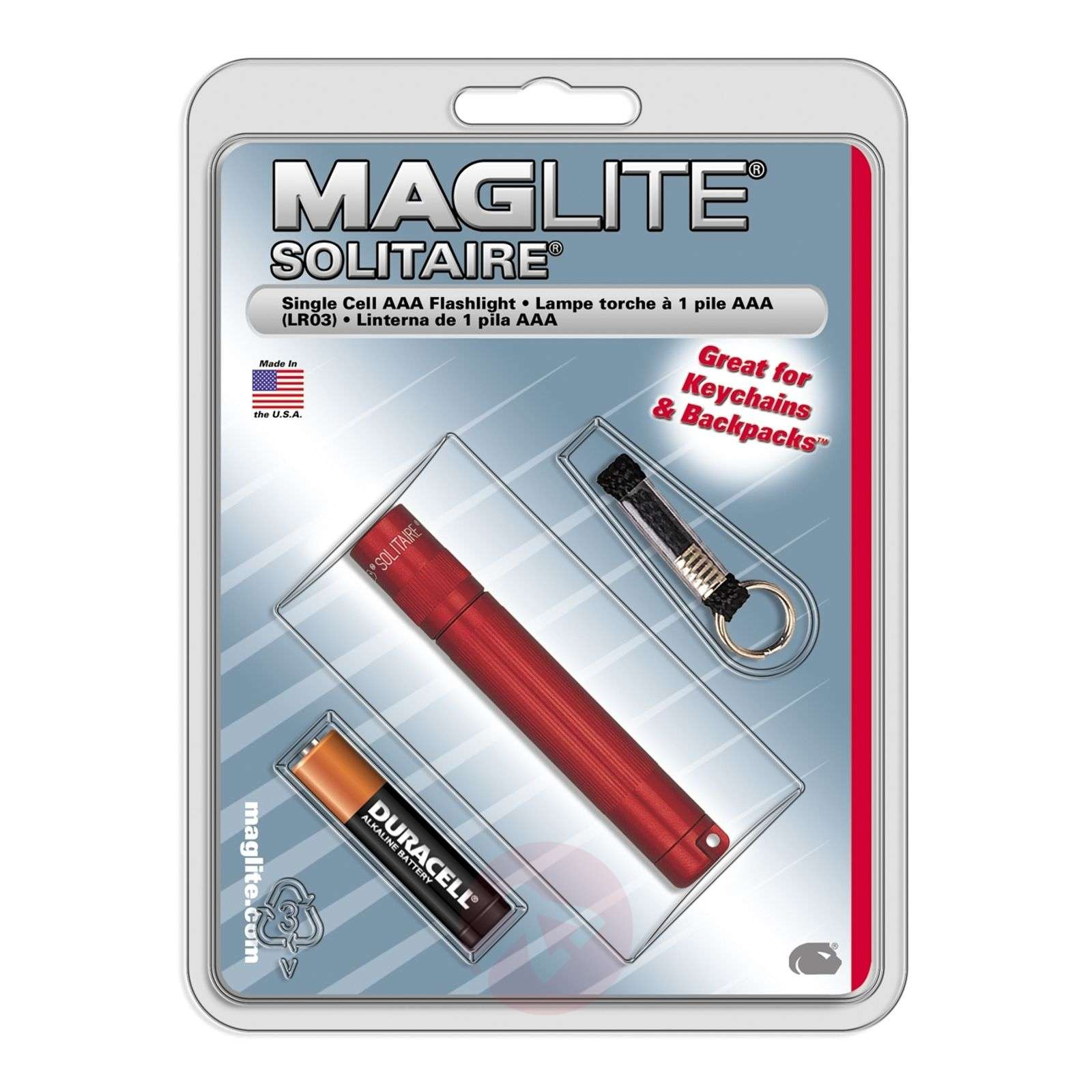 Maglite Solitaire torch in red-6535043-01