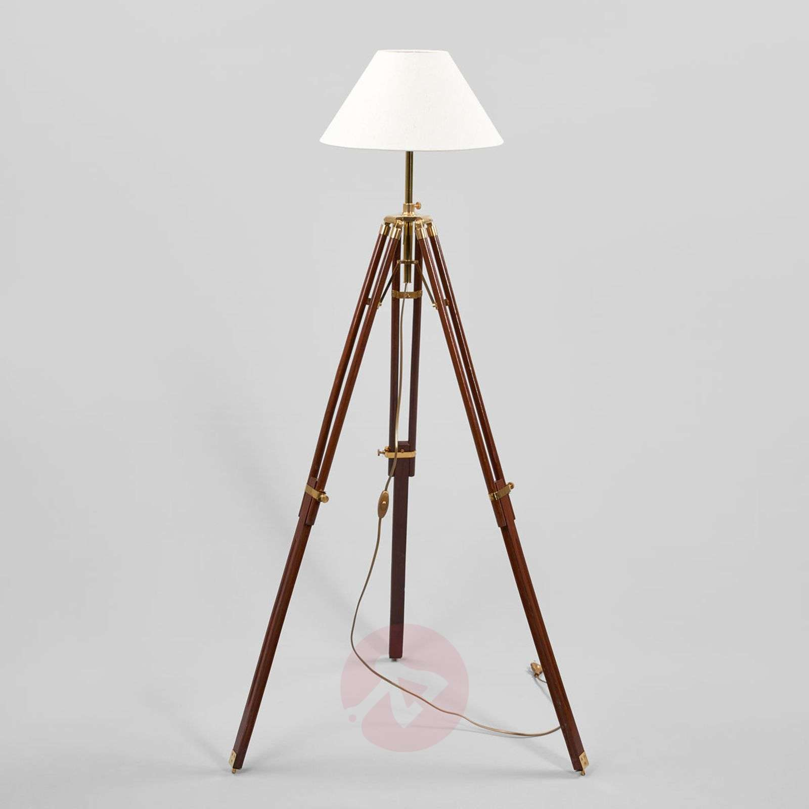 Magnificent floor lamp STATIV with white lampshade-8553010-01