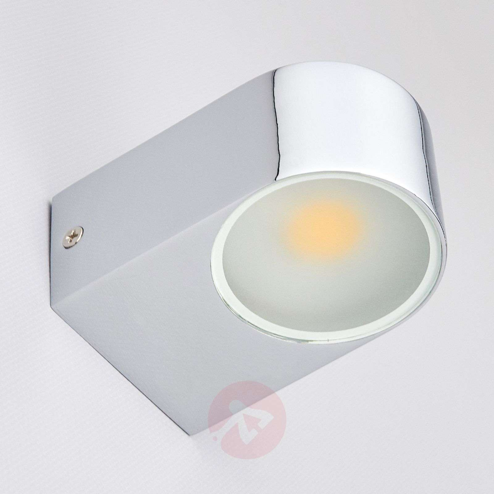 Marielle LED Bathroom Wall Light Chrome | Lights.ie