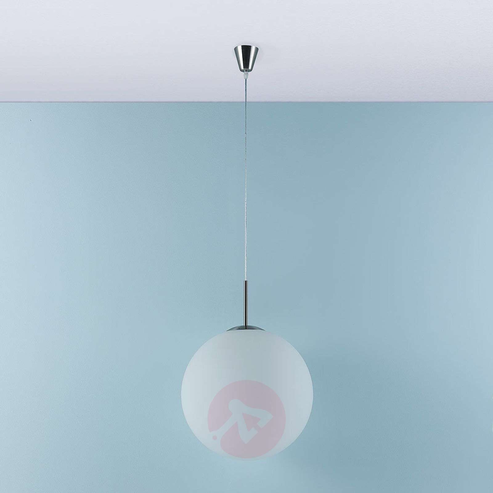Marike pendant lamp, opal glass sphere white-9621455-01