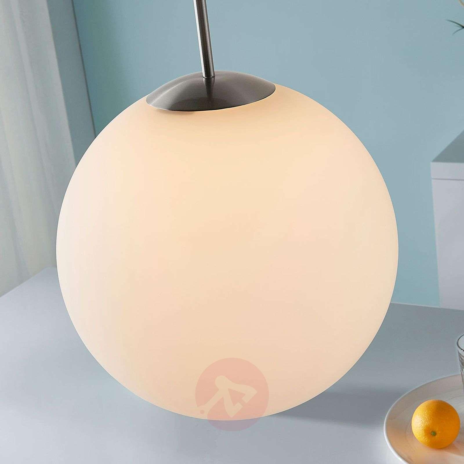 Marike spherical hanging light, white opal glass-9621454-01