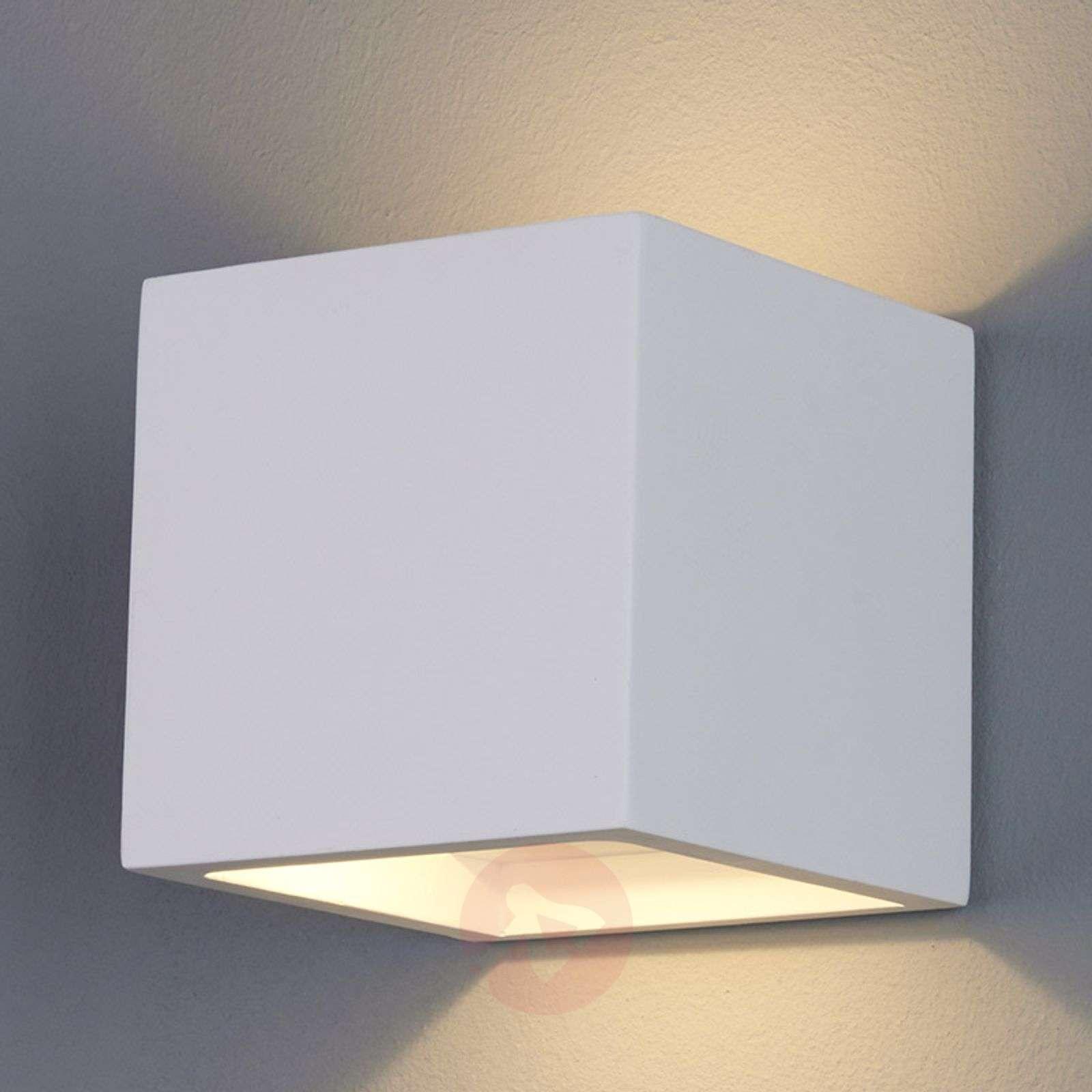 Marita LED Wall Light Cube-Shaped Plaster-9613038-01