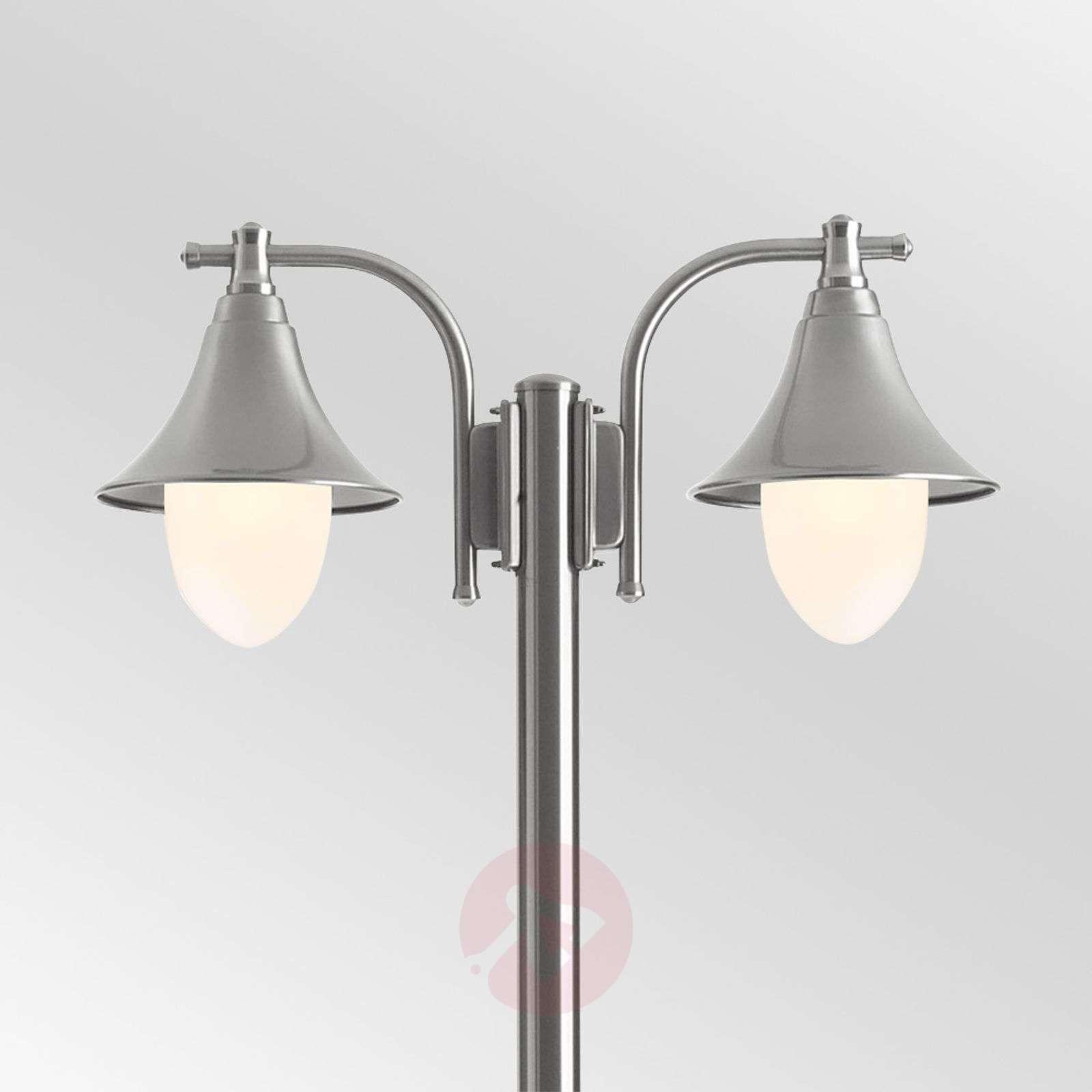 Marlitt two-bulb stainless steel post light-6068073-01