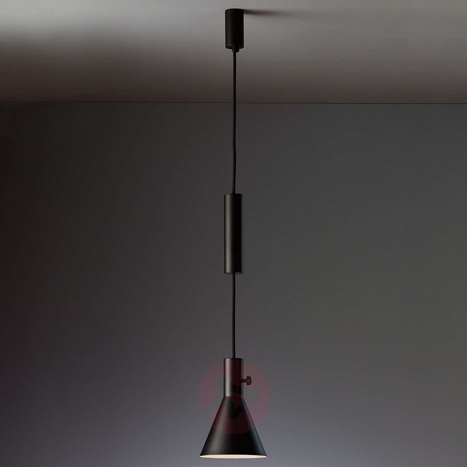Matt black LED hanging light Eleu-9030217-01