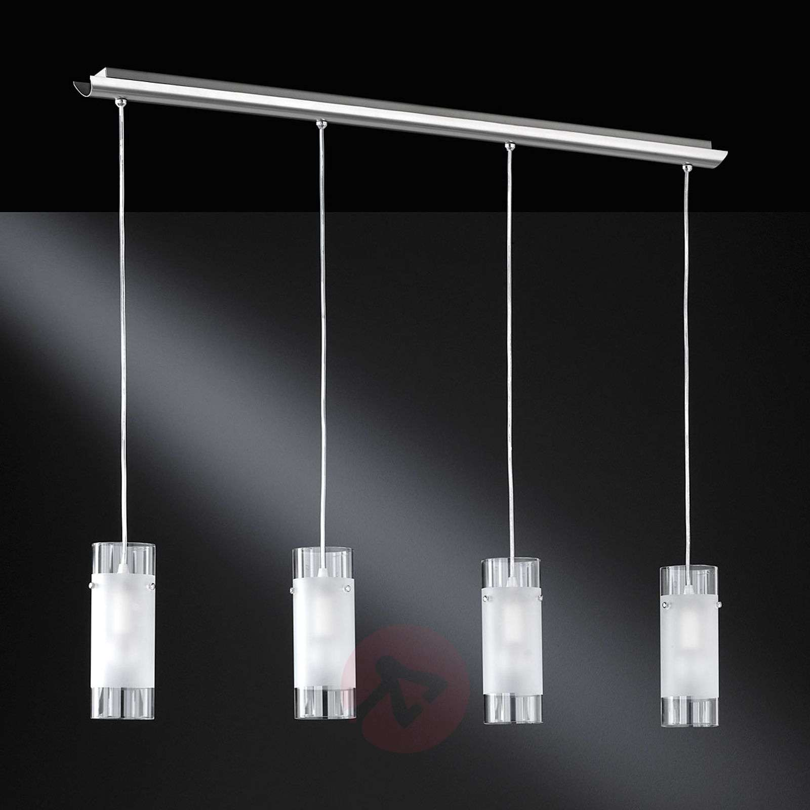 Max hanging light with glass lampshades, four-bulb-9651492-01