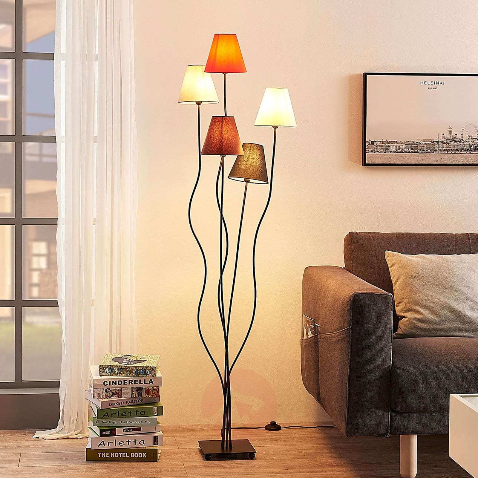 Melis five-bulb floor lamp for the living room | Lights.ie