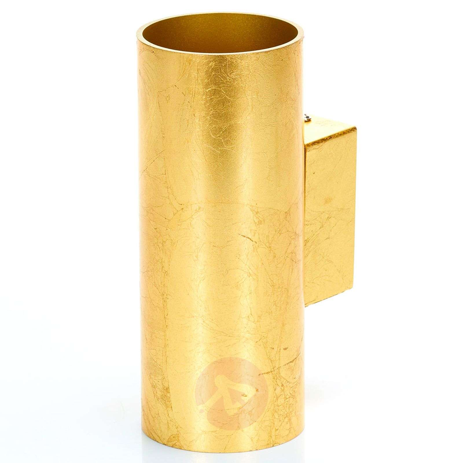 Meral golden LED wall lamp, cylindrical-9994130-03