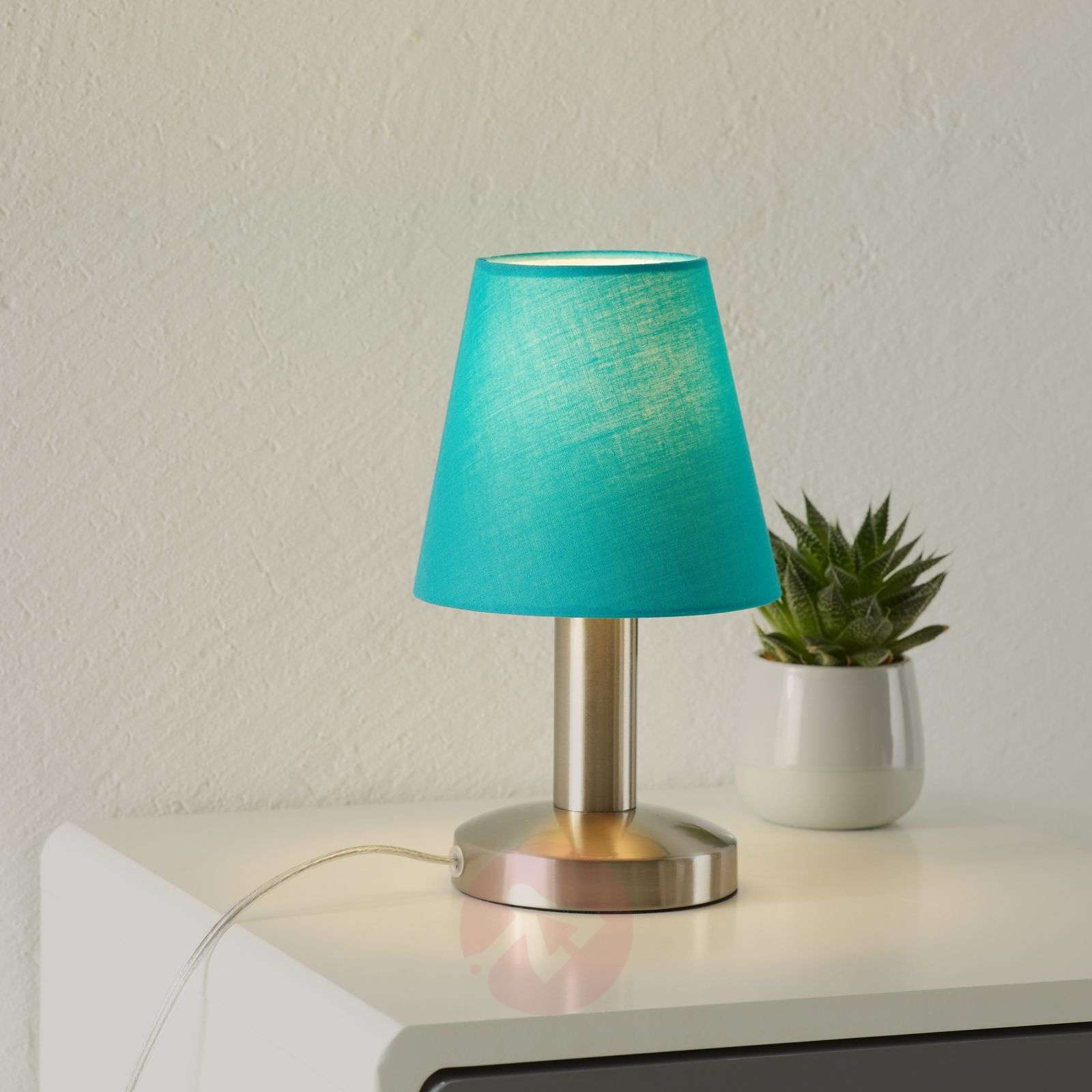 Merete table lamp with touch function, turquoise-9004612-01