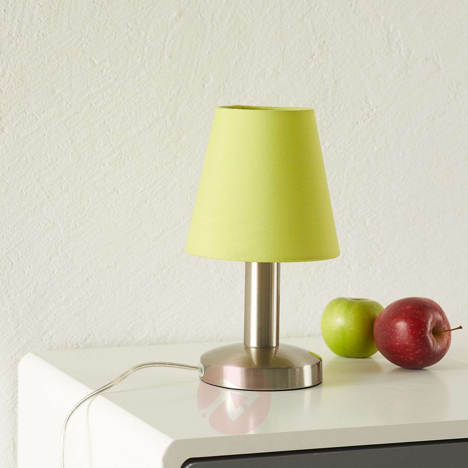 Merete table lamp with touch switch, green-9004611-01