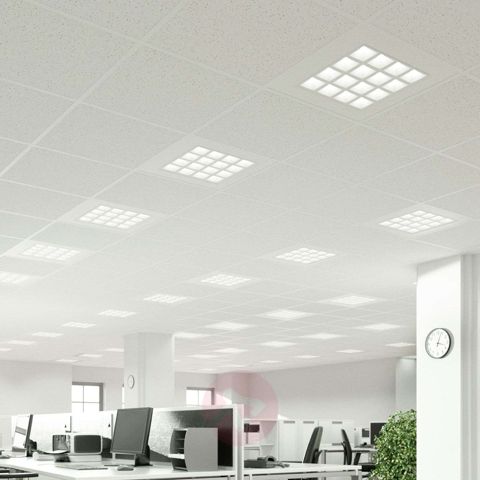 Merti LED recessed panel in white, 4,000K-9967033-03