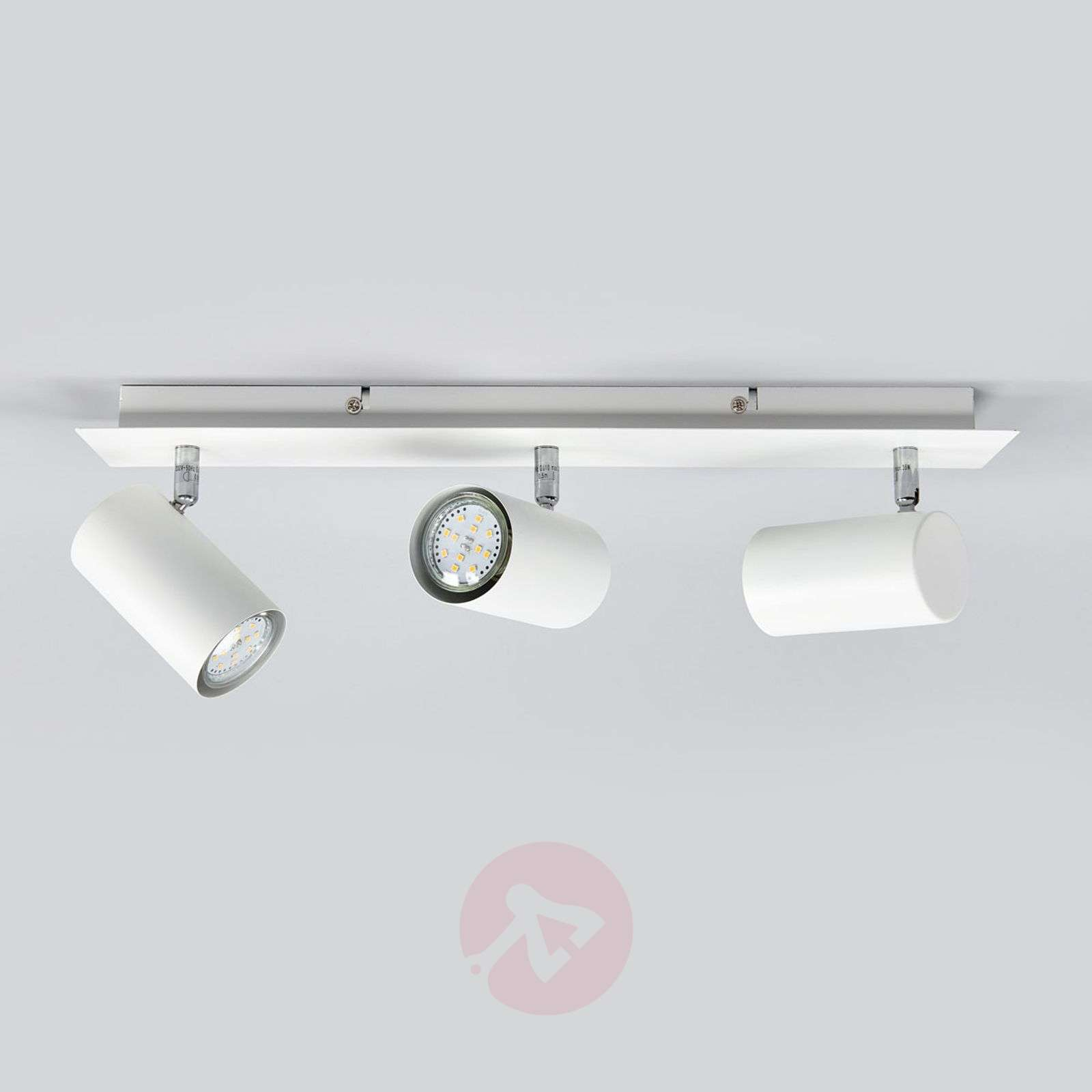 Mia 3-bulb halogen ceiling spotlight, white-9005042-01