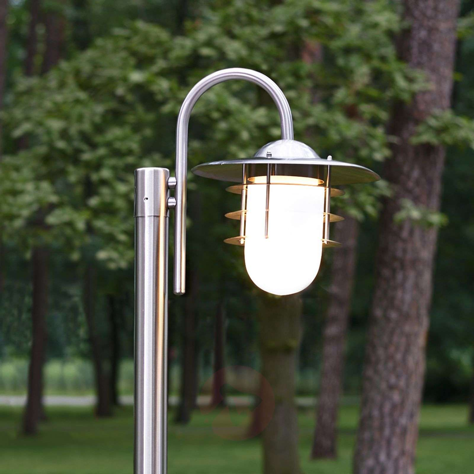 Mian Curved Mast Lamp Made of Stainless Steel-9960027-01