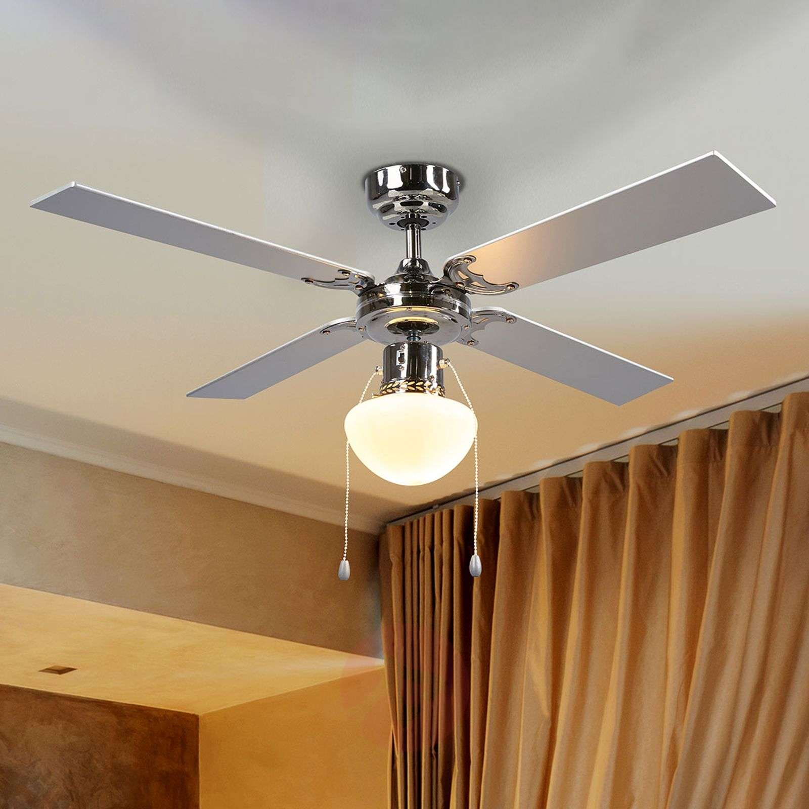 Milana ceiling fan with light, E27_4018101_1
