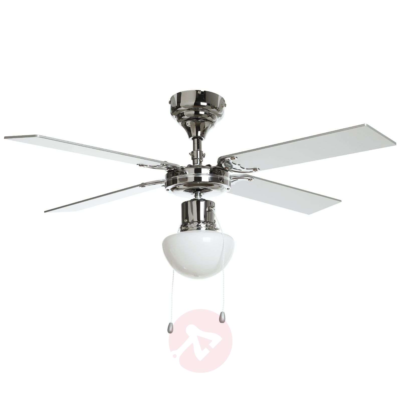 Milana ceiling fan with light, E27-4018101-013