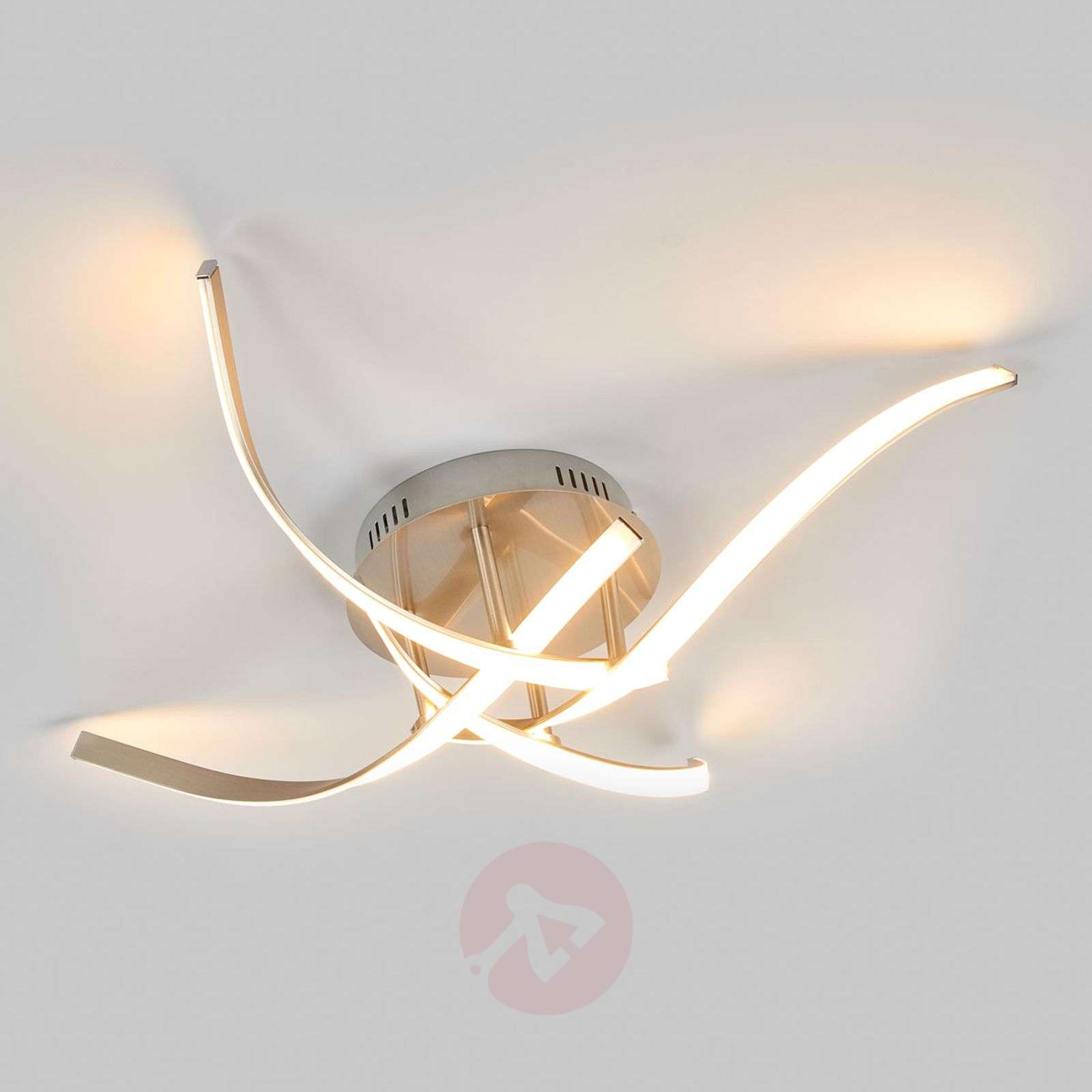 Milane bright LED ceiling lamp matt nickel-9985059-02