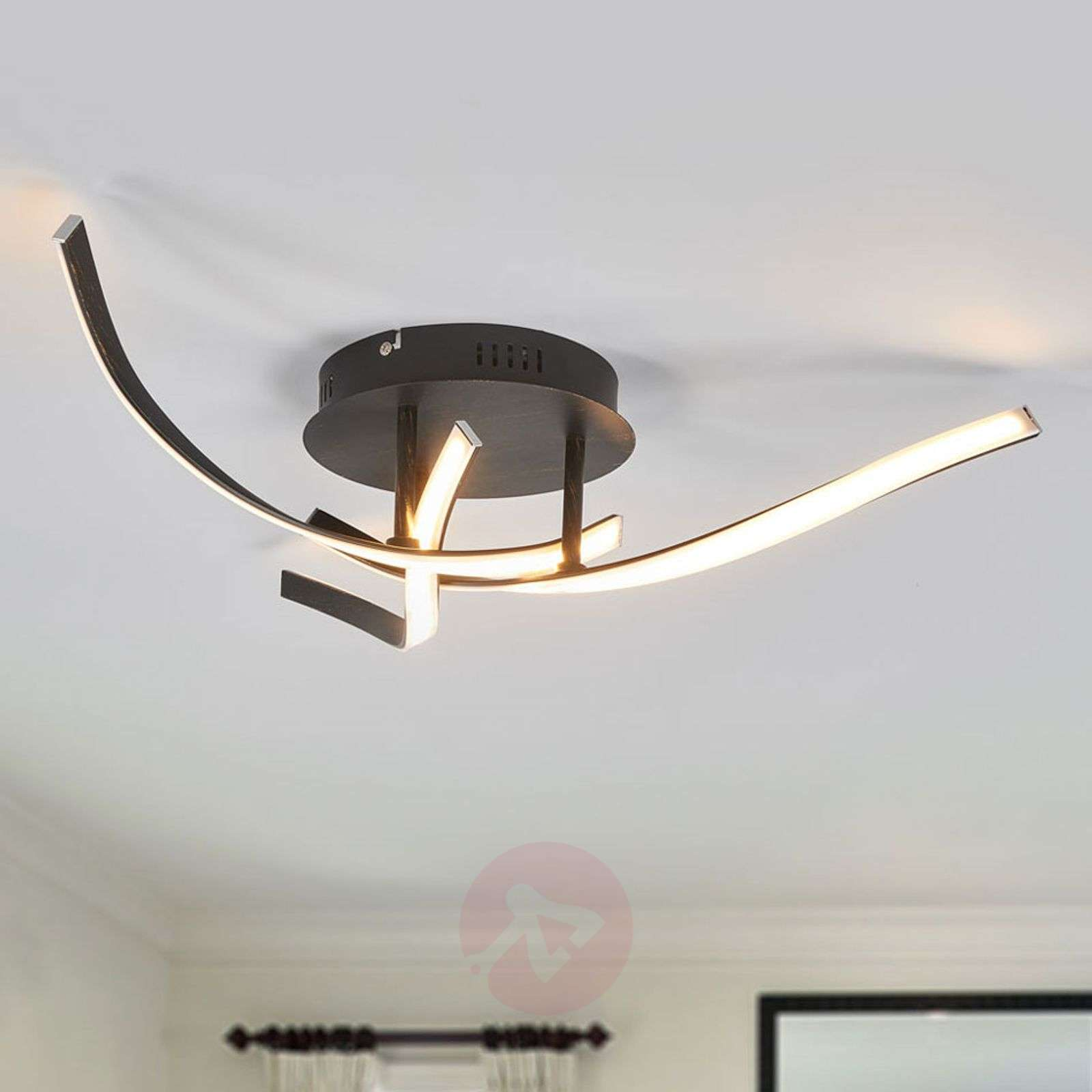 Milane brown LED ceiling light, 3 dimming levels-9985058-02