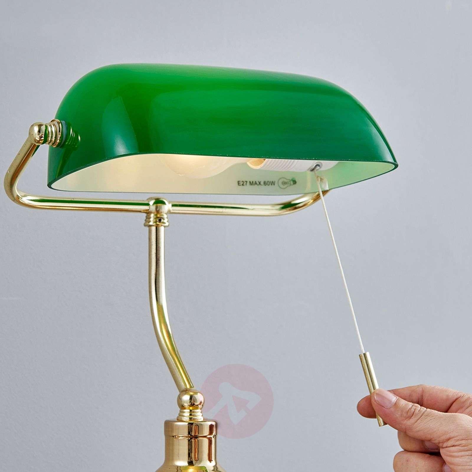 Milenka bankers lamp, polished brass-9620987-03