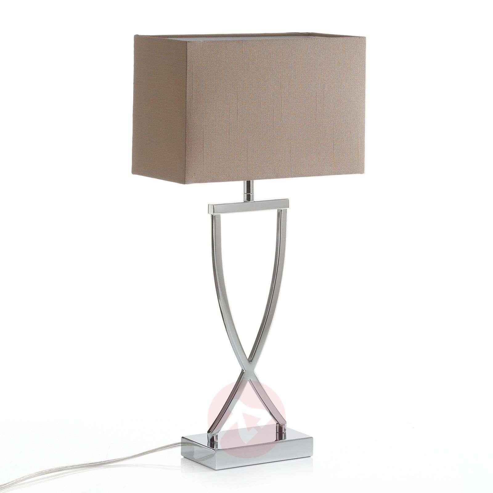 Modern fabric table lamp Anni chrome-cappuccino-4581008-01
