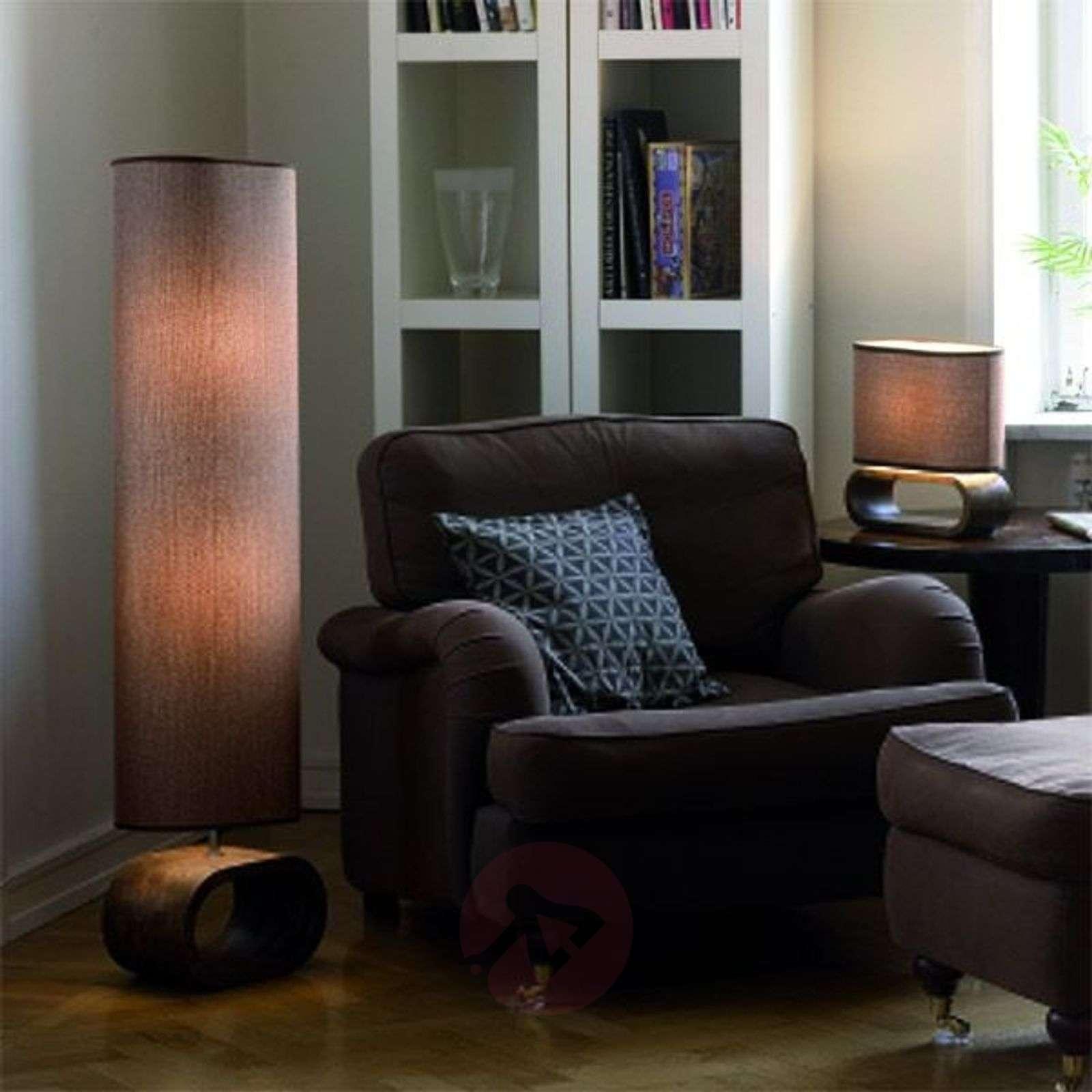Modern floor lamp Neksö, beige-6505058-01