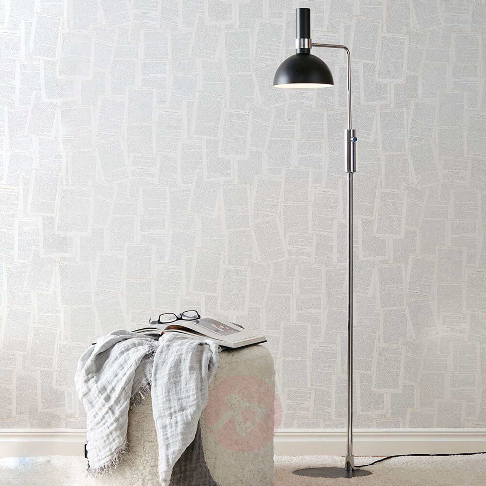 Modern Larry Floor Lamp With Rotary Dimmer Lights Ie