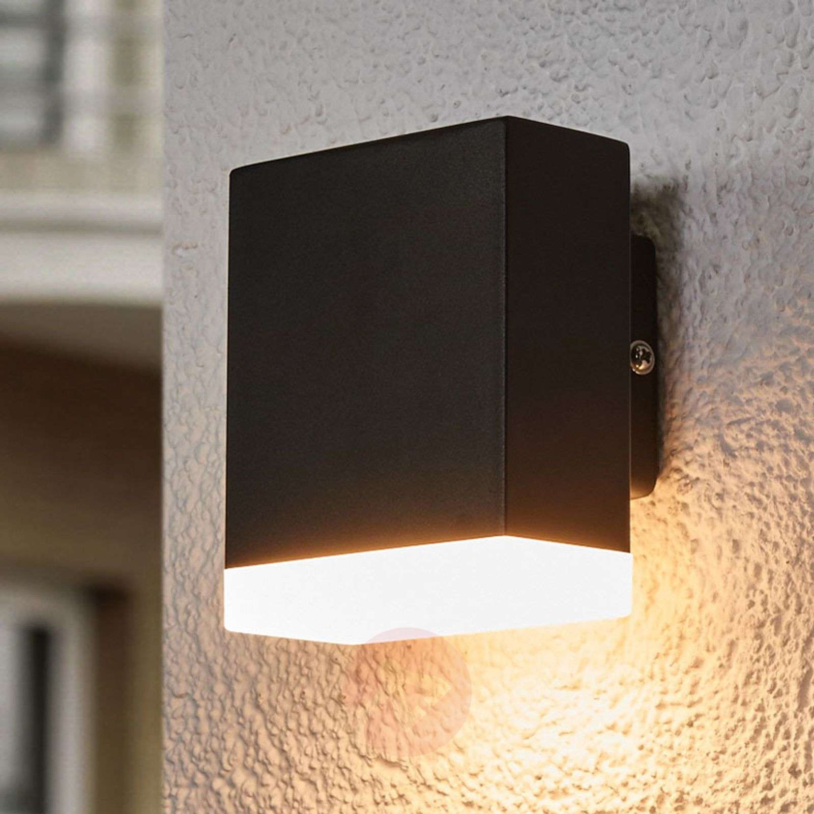 Modern Led Outdoor Wall Lamp Aya In Black Lights Ie