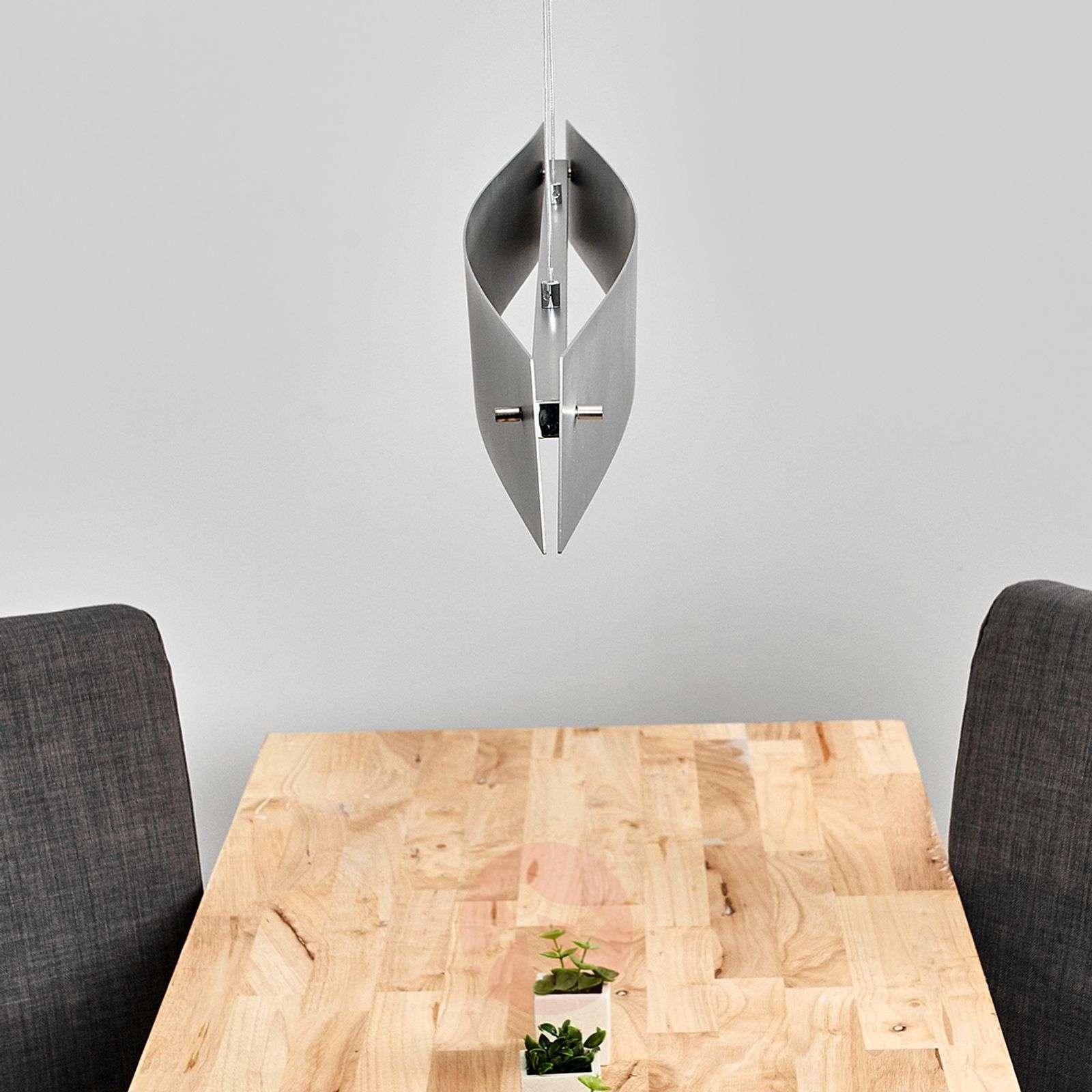 Modern LED pendant lamp Malu, matt aluminium-6722265-01